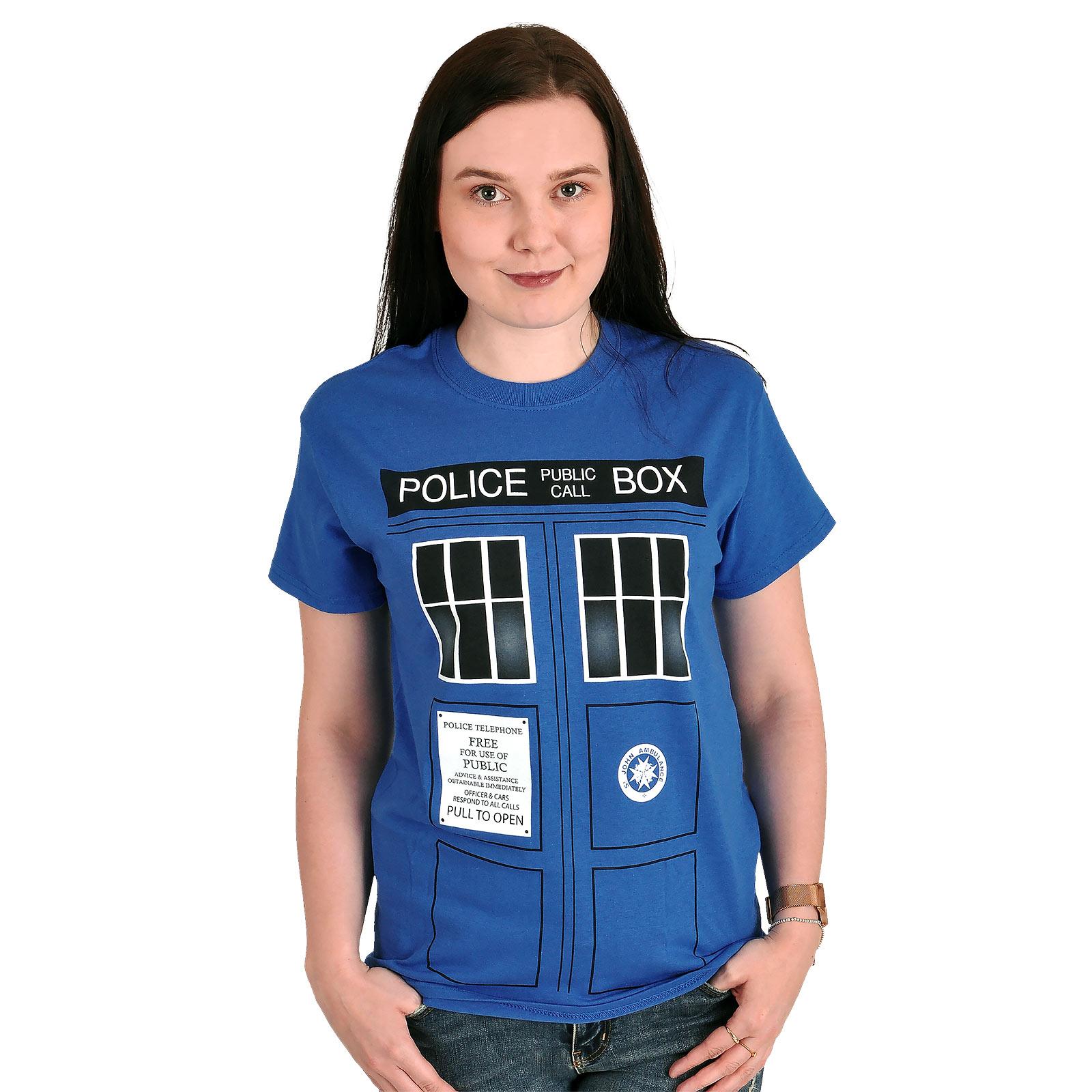Doctor Who - Tardis T-Shirt blau