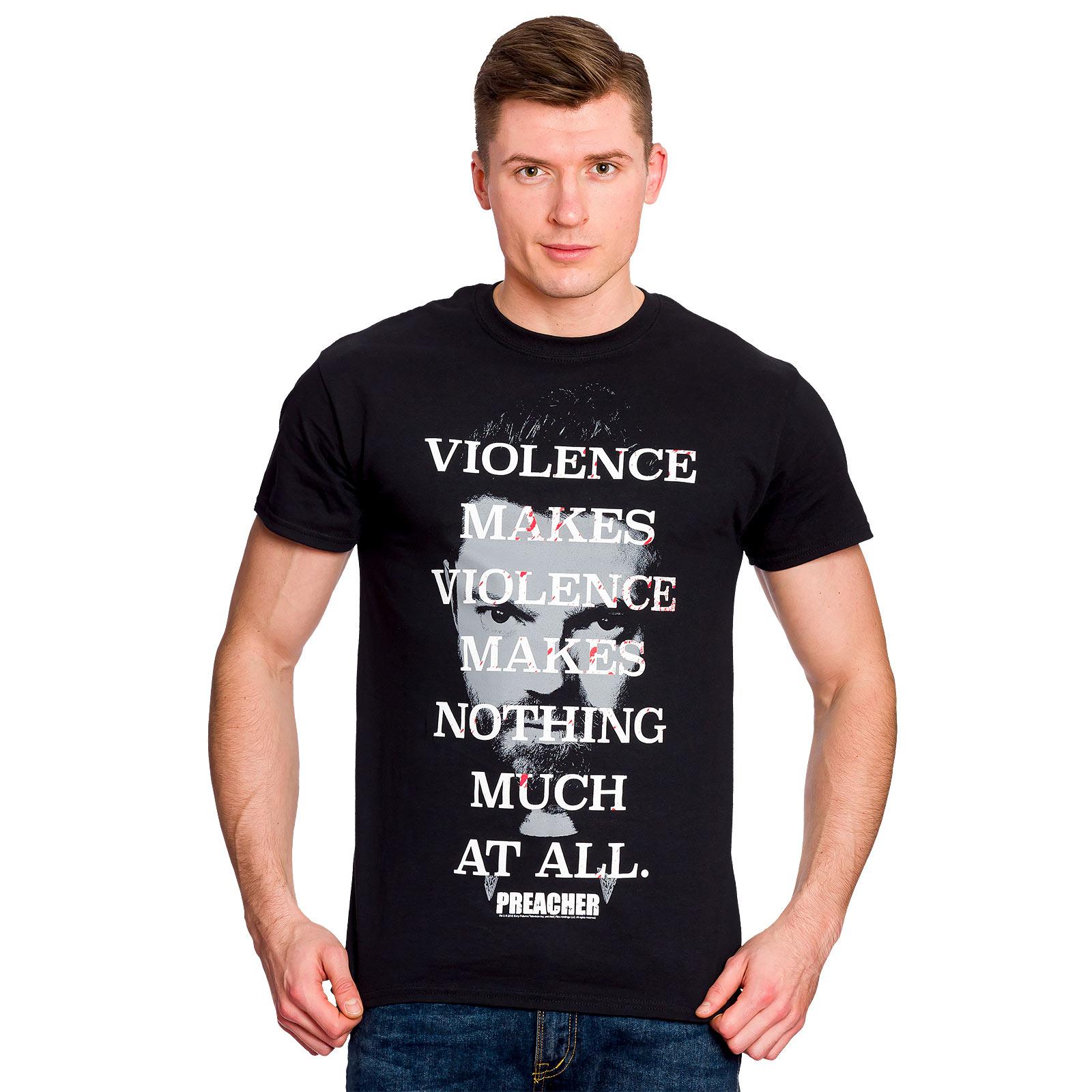 Preacher - Violence Makes Violence T-Shirt schwarz