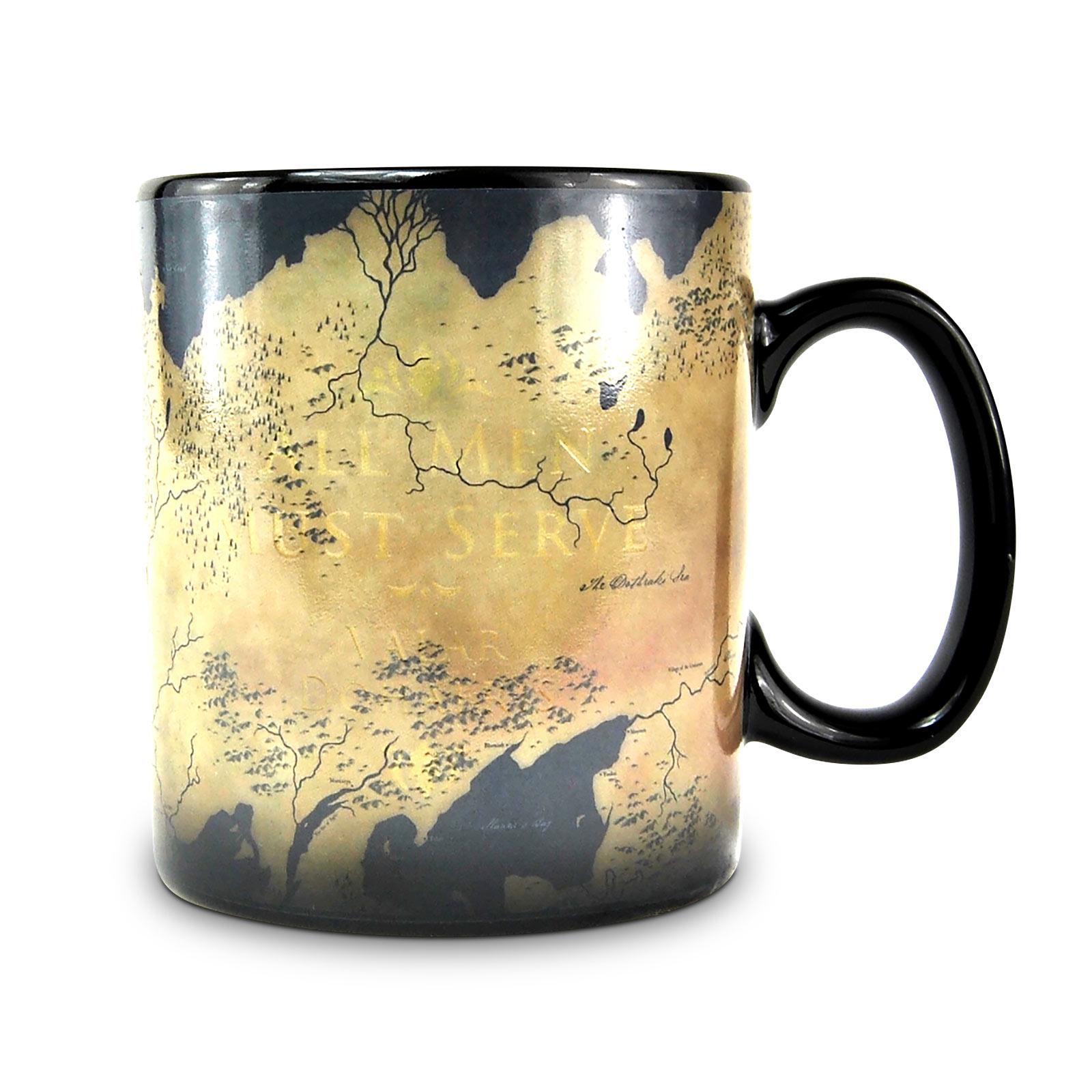 Game of Thrones - Westeros und Essos Thermoeffekt Tasse