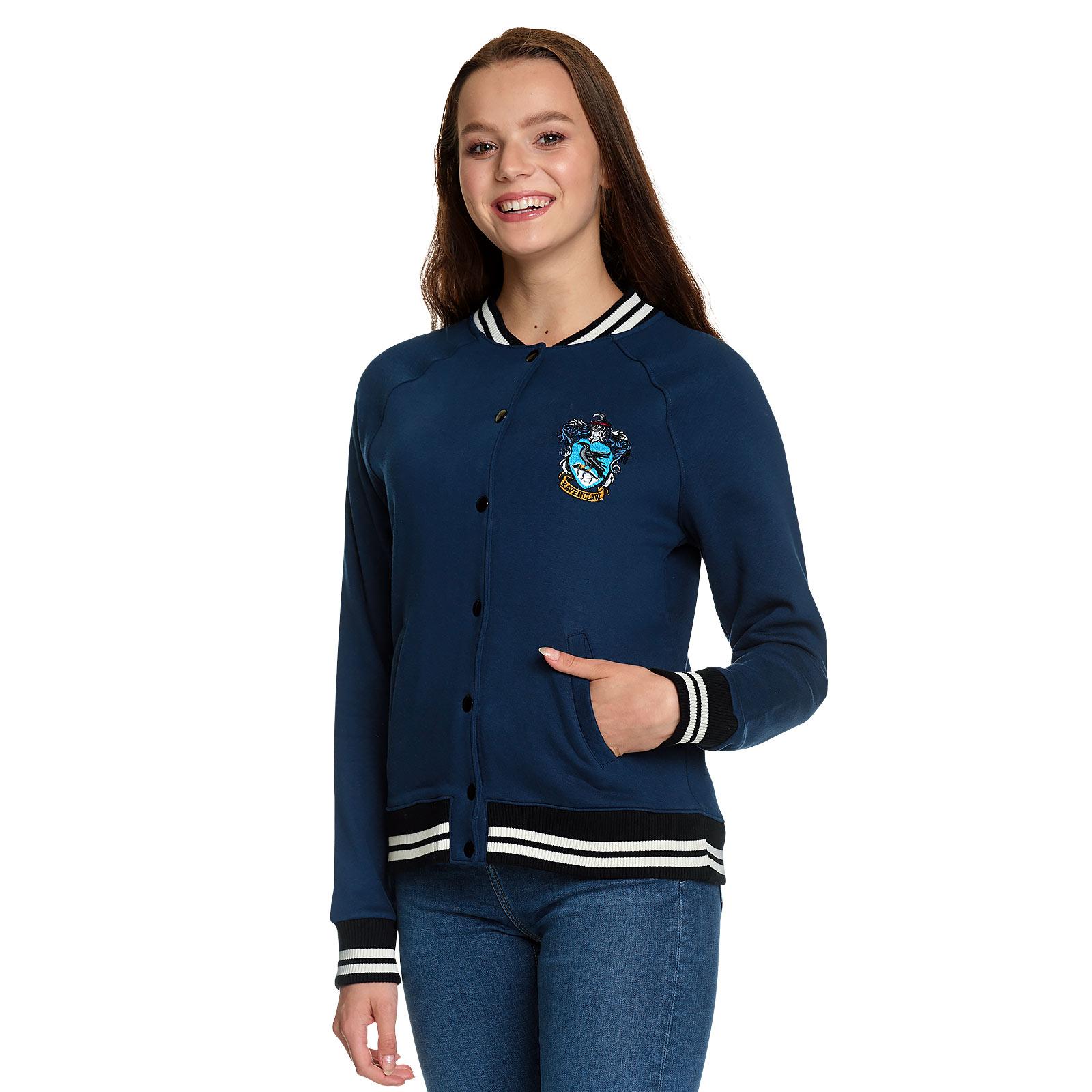 Harry Potter - Ravenclaw Wappen College Jacke Damen blau