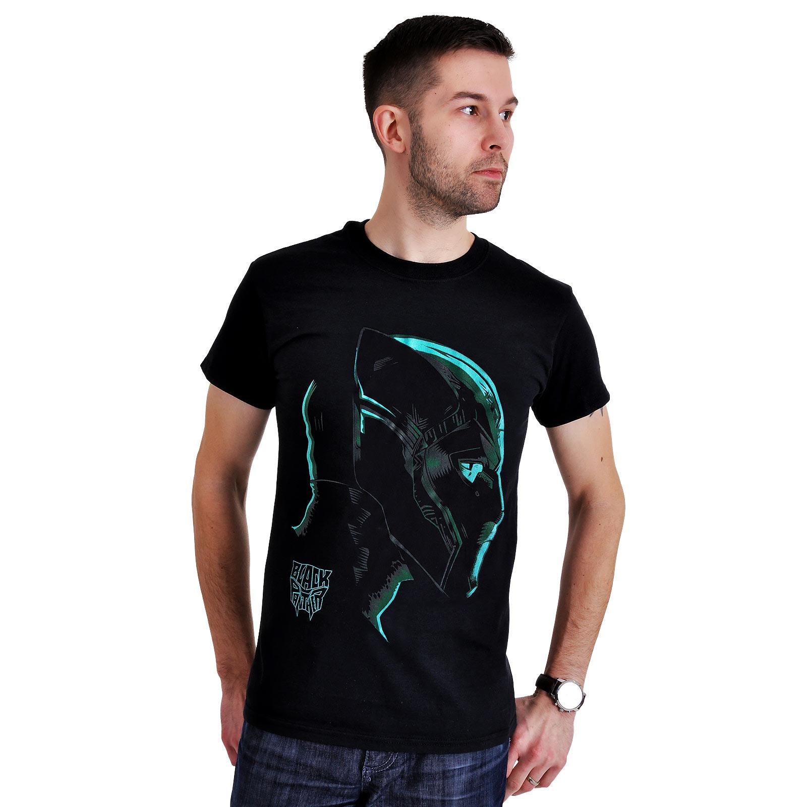 Black Panther - Neon Face T-Shirt schwarz