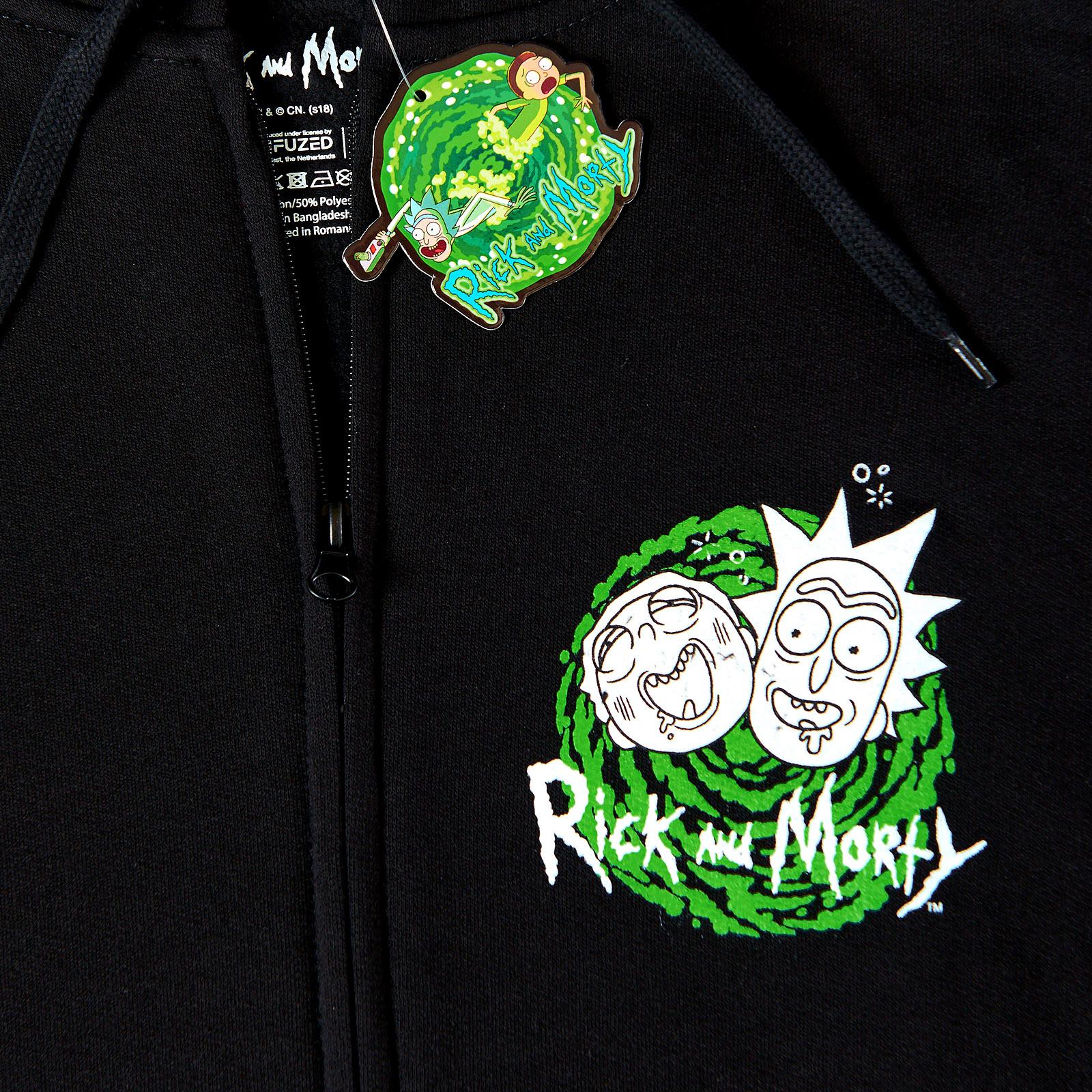 Rick and Morty - Riggity Wrecked Kapuzenjacke schwarz