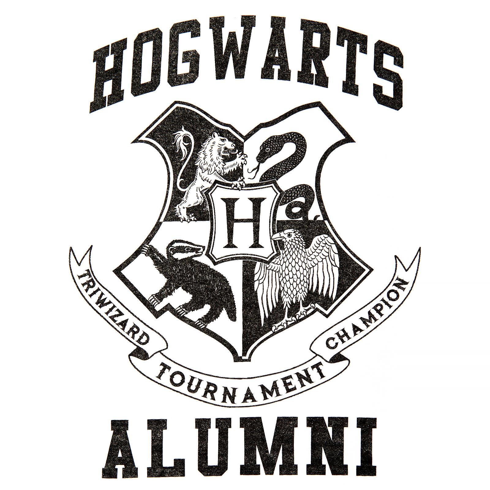 Harry Potter - Hogwarts Alumni T-Shirt Damen weiß