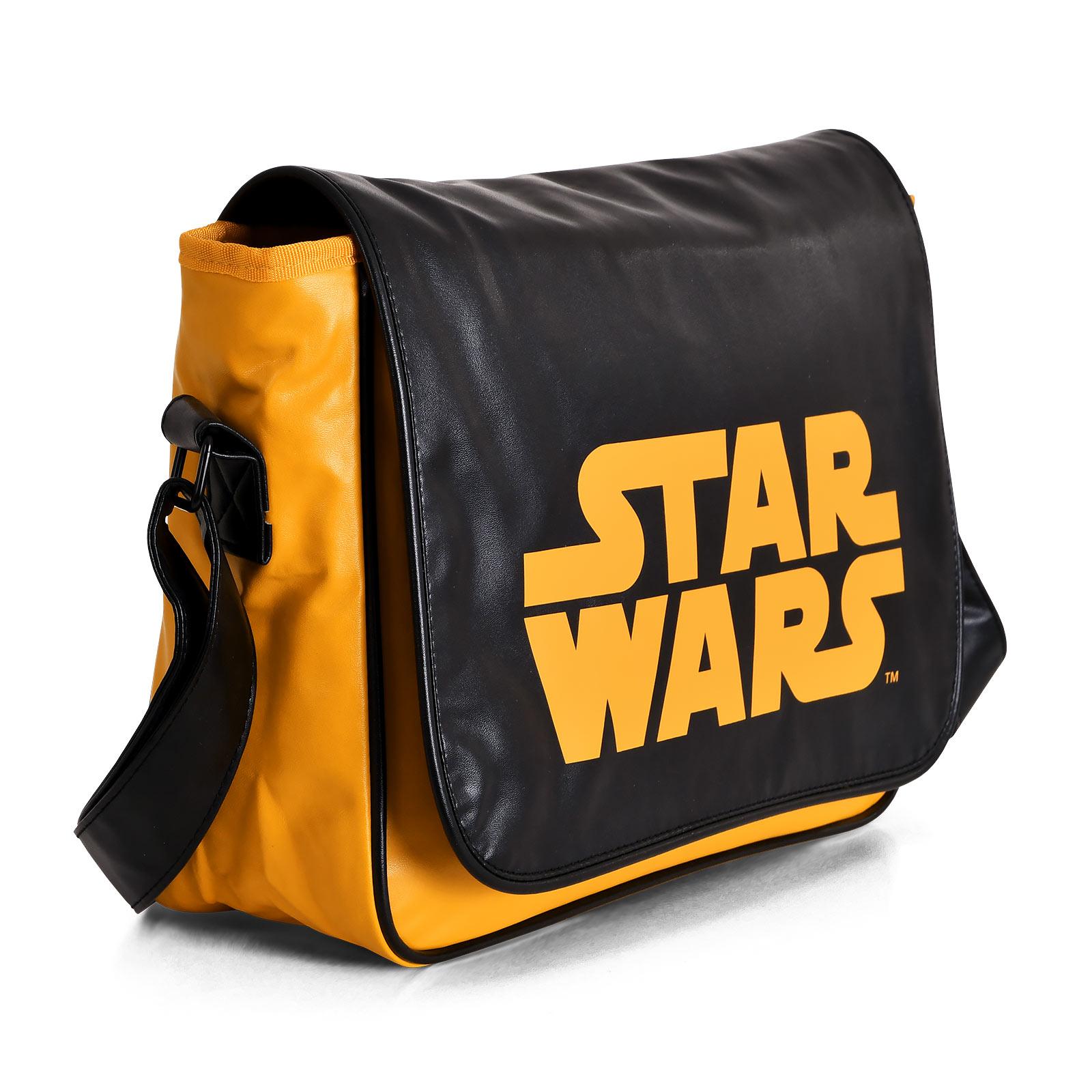 Star Wars - Orange Logo Tasche schwarz