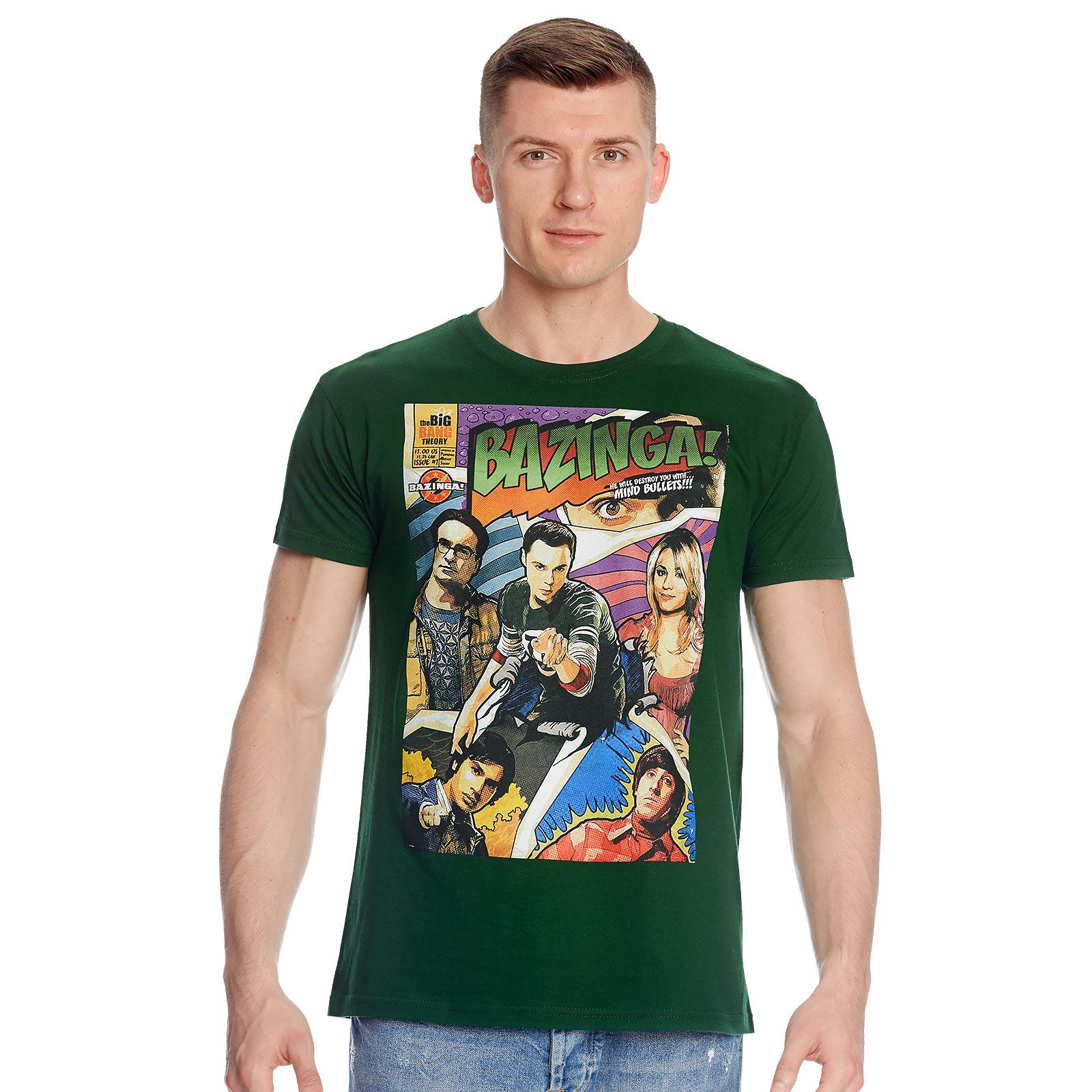 The Big Bang Theory - Bazinga Comic Style T-Shirt