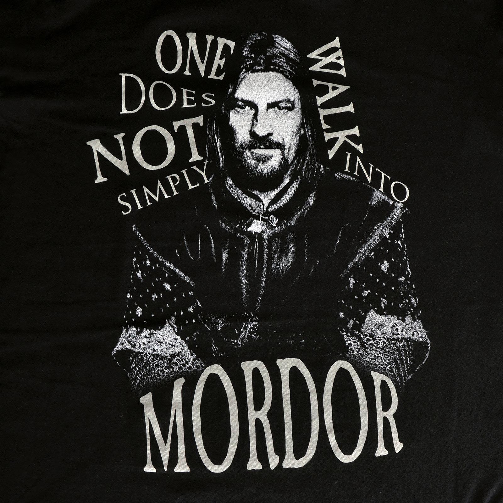 Herr der Ringe - Boromir Walk into Mordor T-Shirt schwarz