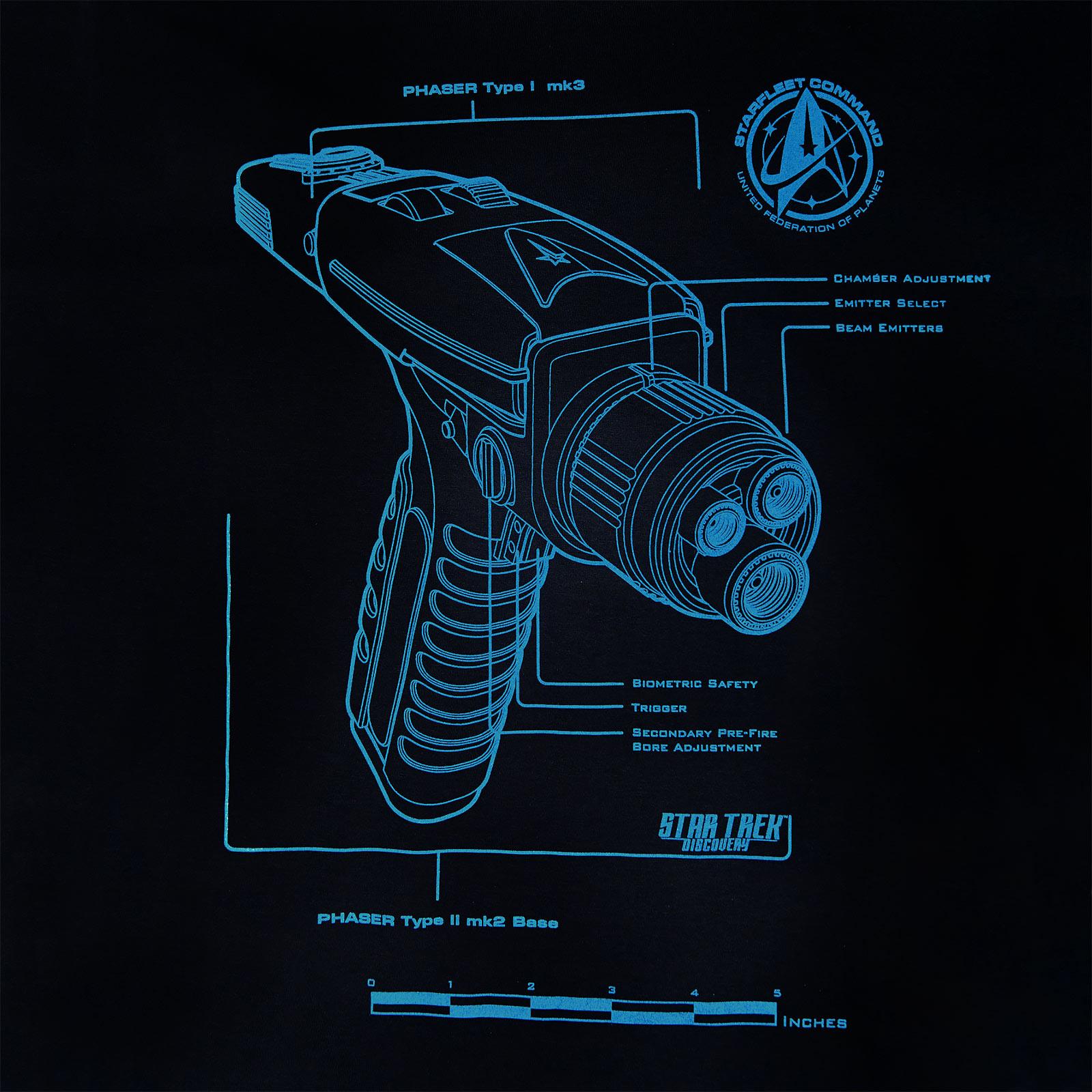 Star Trek - Discovery Phaser T-Shirt blau