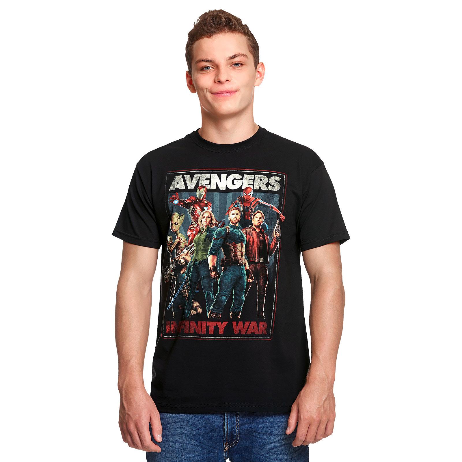 Avengers - Infinity Heroes Collage T-Shirt schwarz