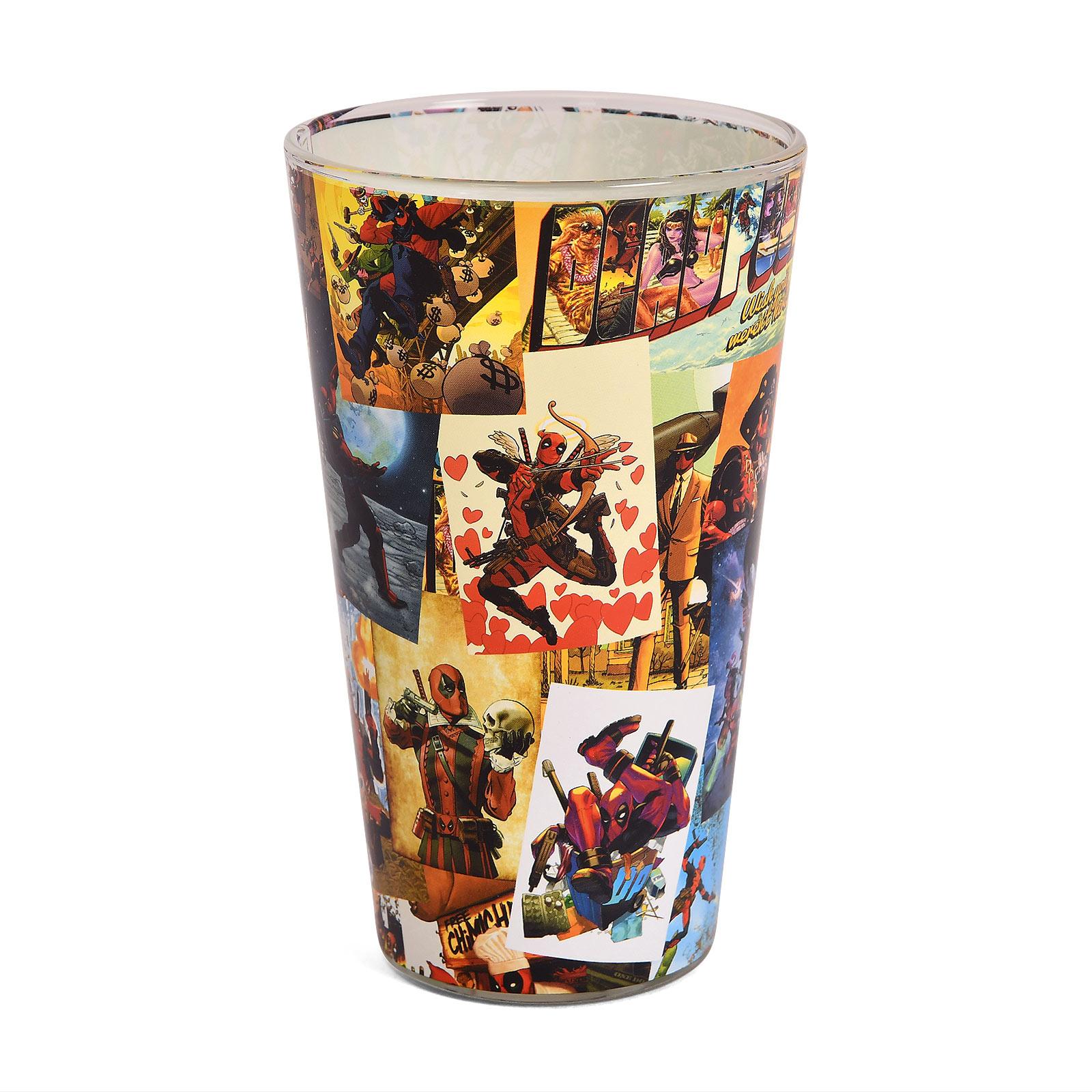 Deadpool - Comic Collage Glas
