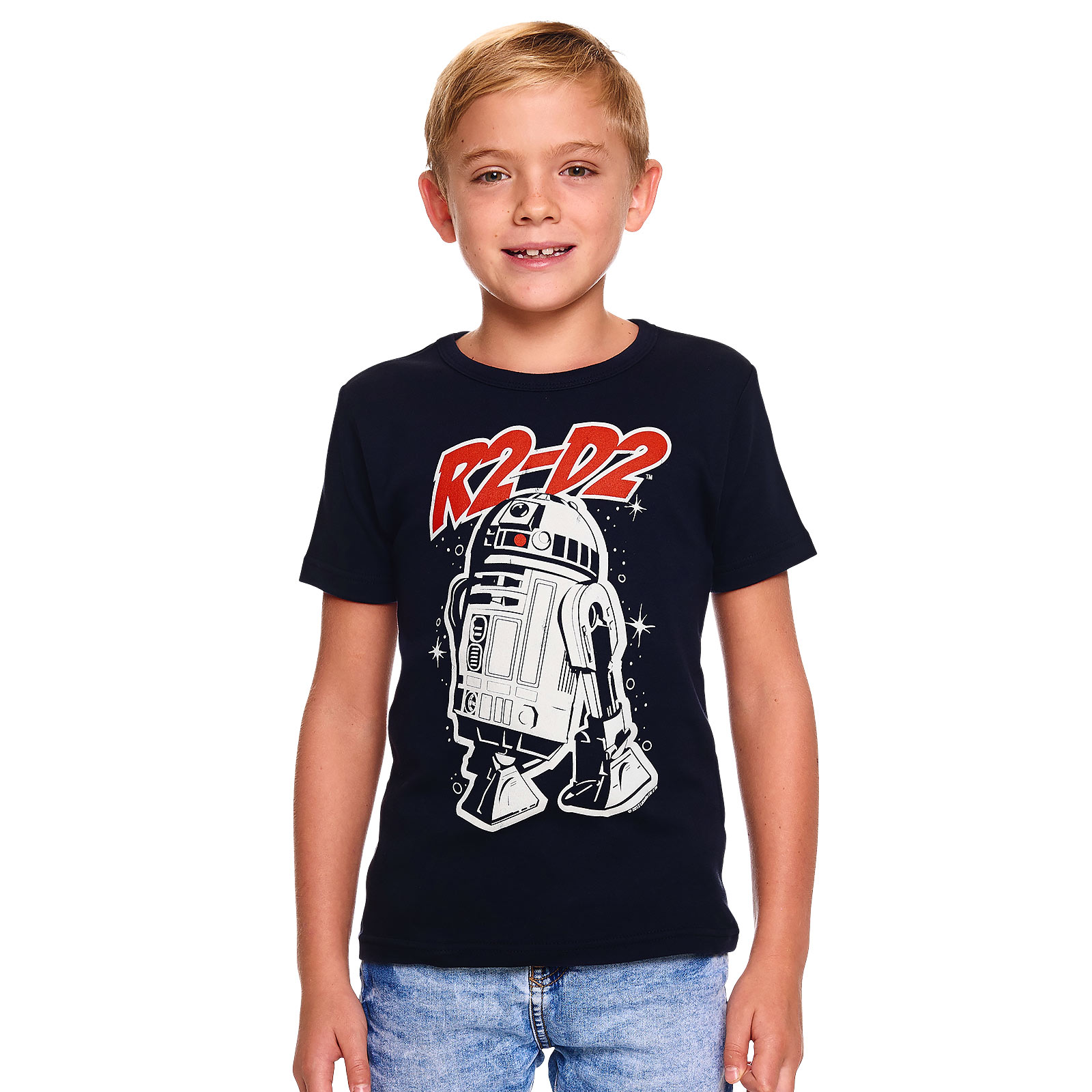 Star Wars - R2-D2 Kinder T-Shirt navy