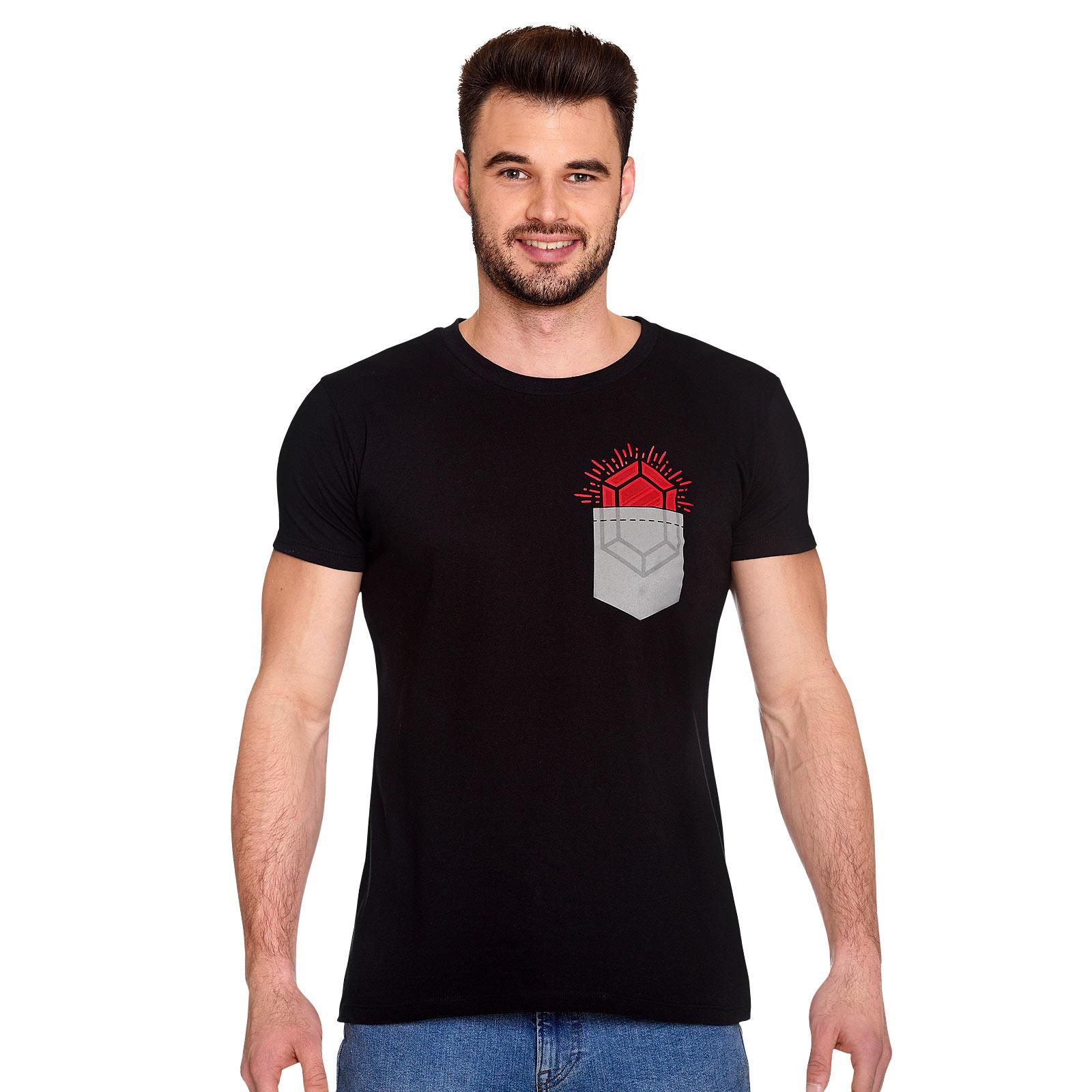 Pocket Rubin T-Shirt für Zelda Fans schwarz