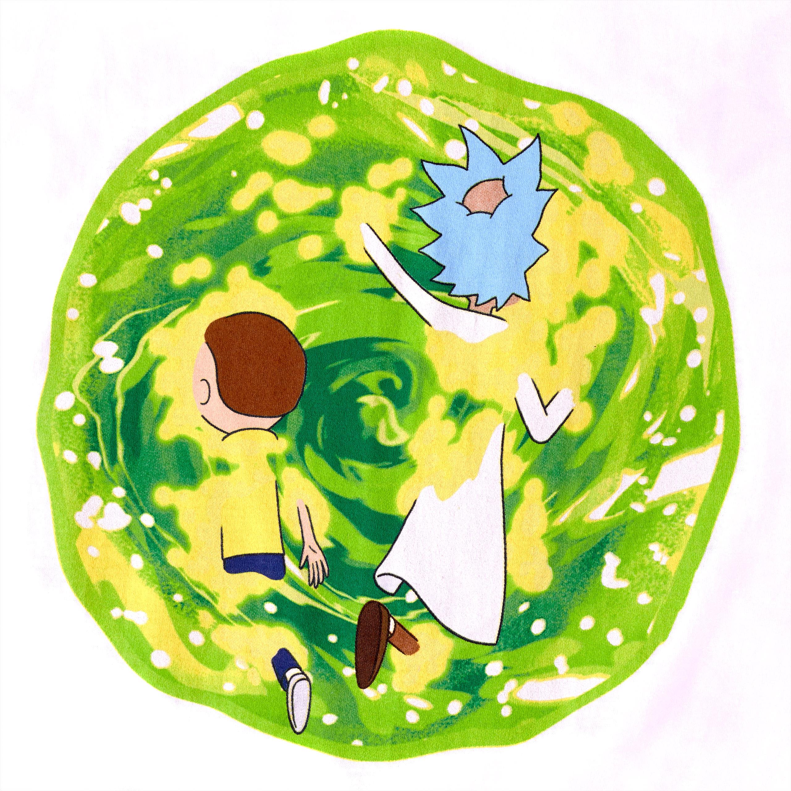 Rick and Morty - Portal T-Shirt weiß