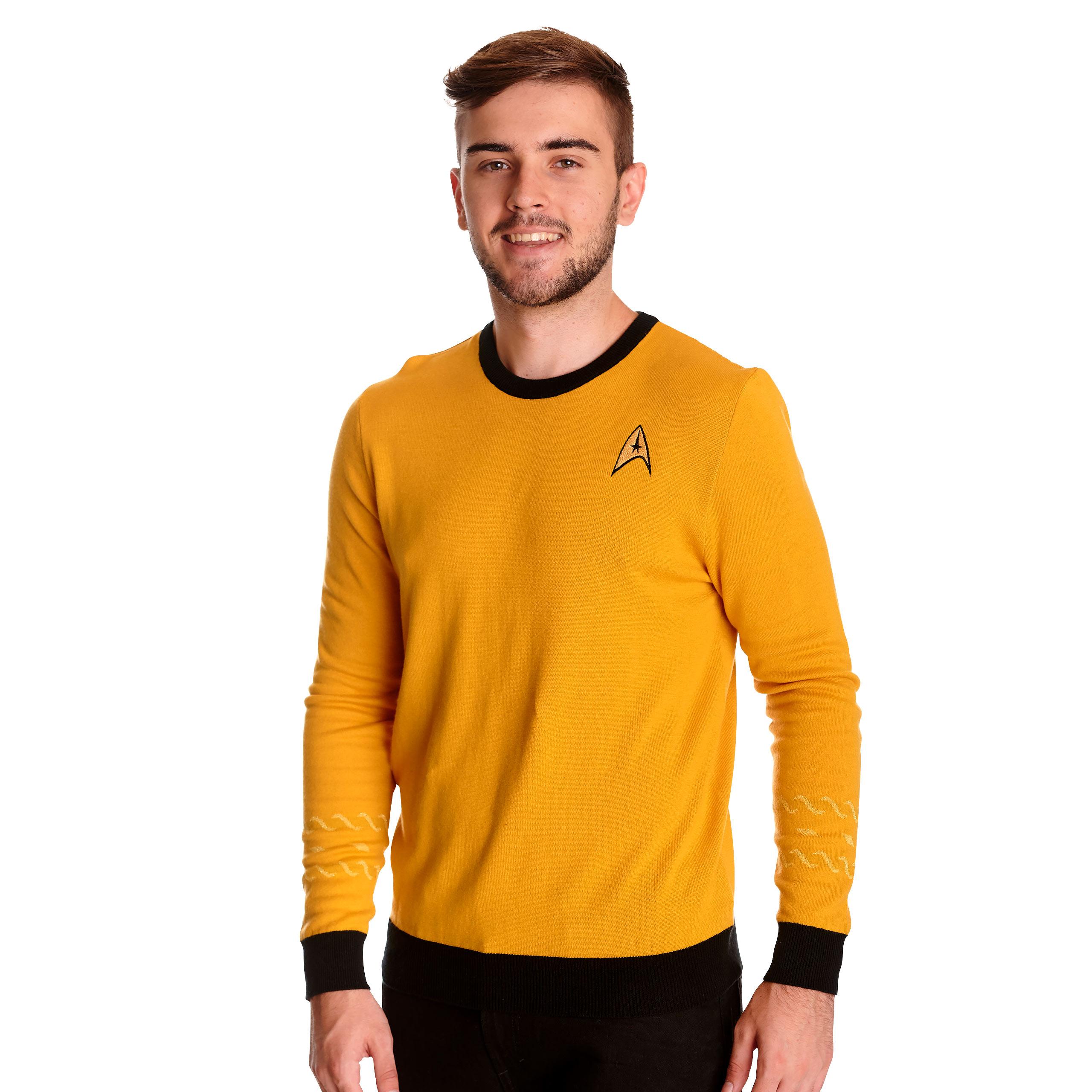 Star Trek - Kirk Uniform Strickpullover gelb