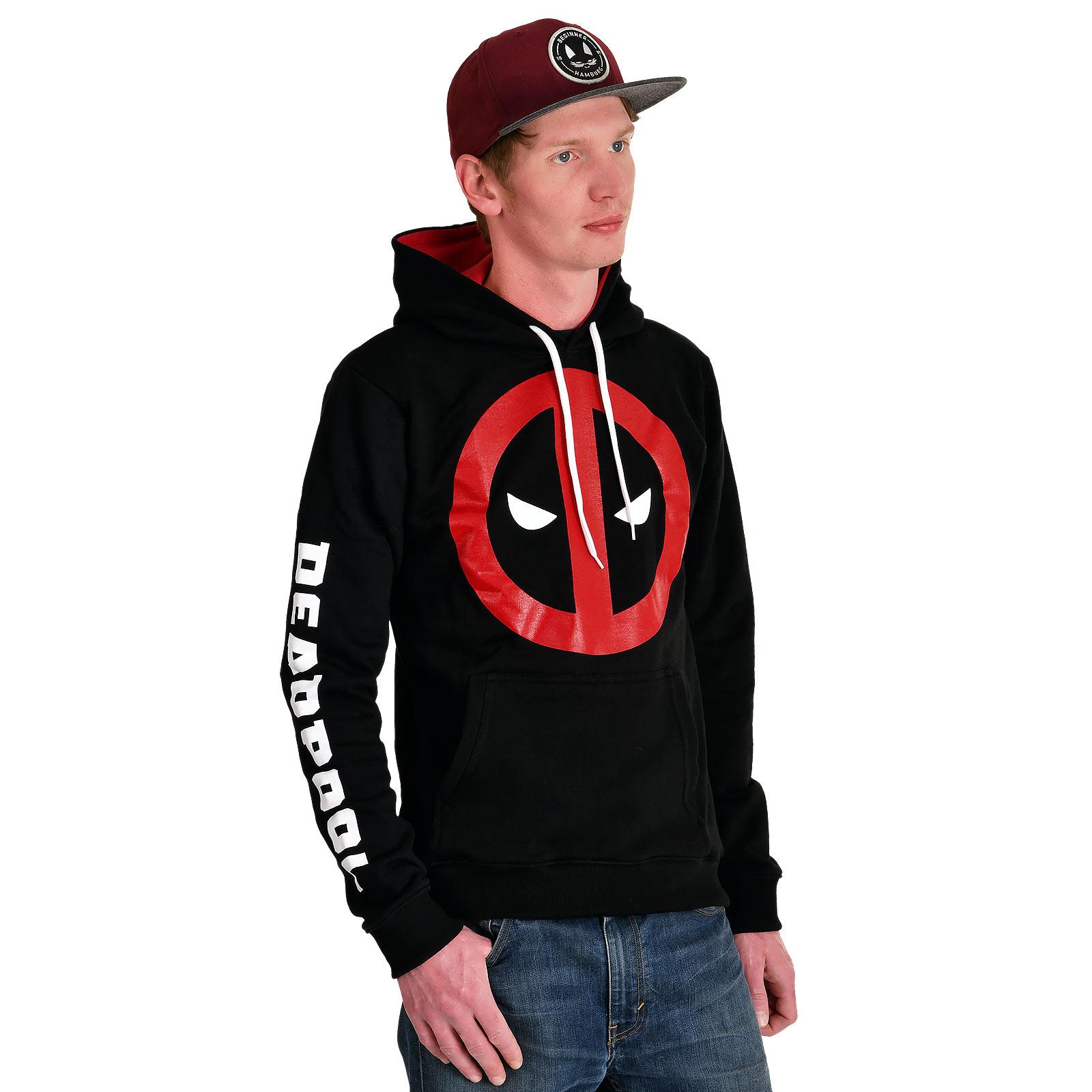 Deadpool - Eyes Logo Hoodie schwarz