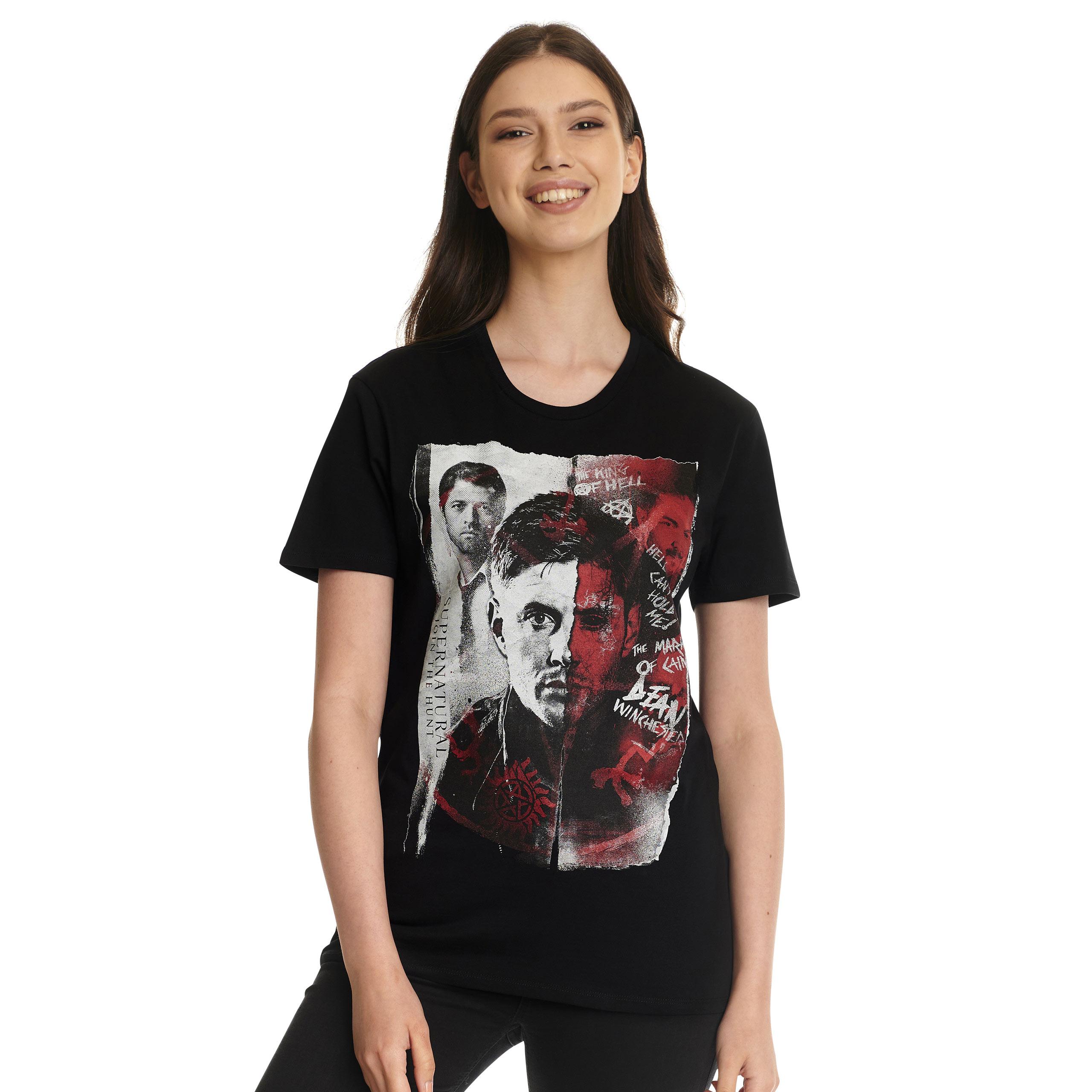 Supernatural - Dean Winchester T-Shirt schwarz