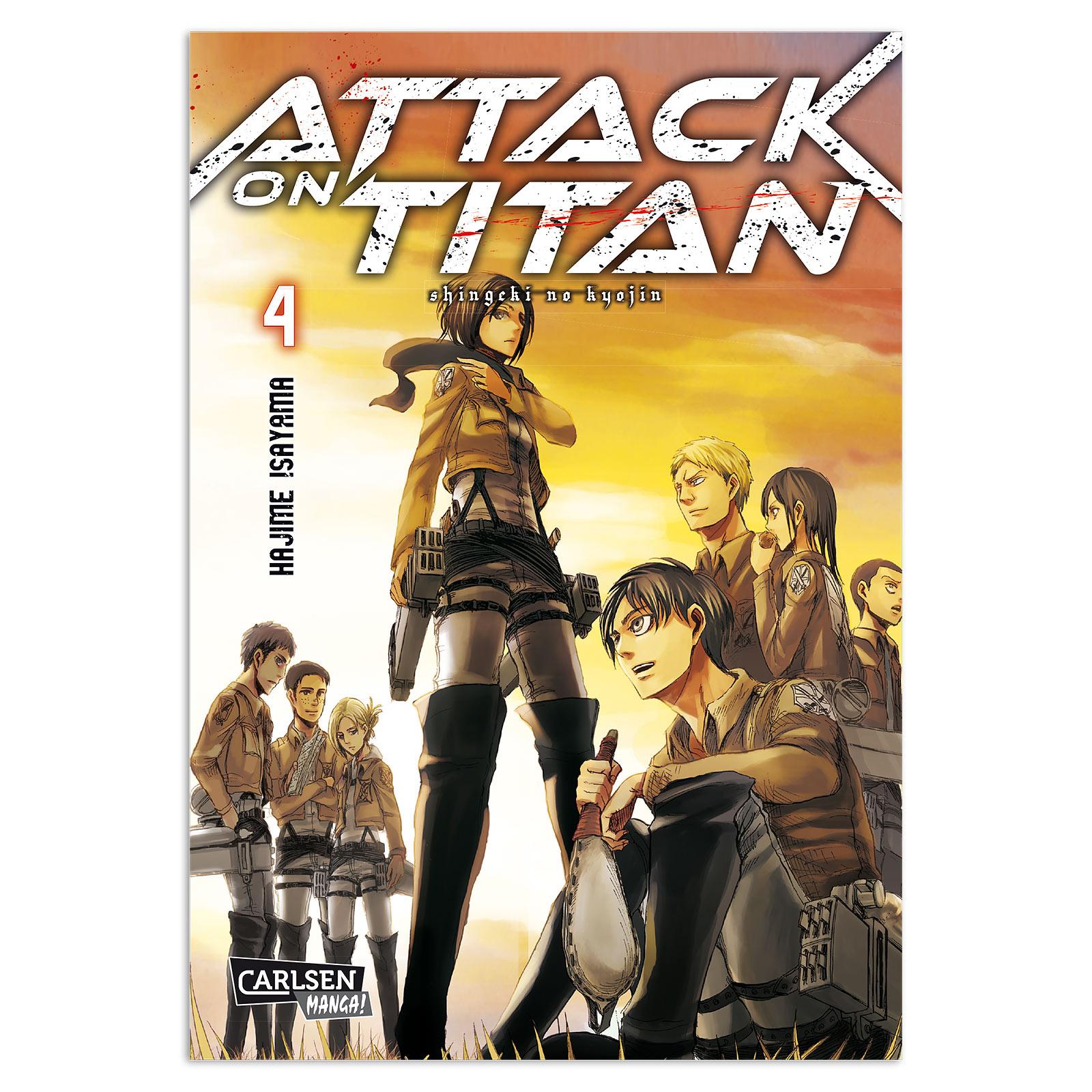 Attack on Titan - Band 4 Taschenbuch