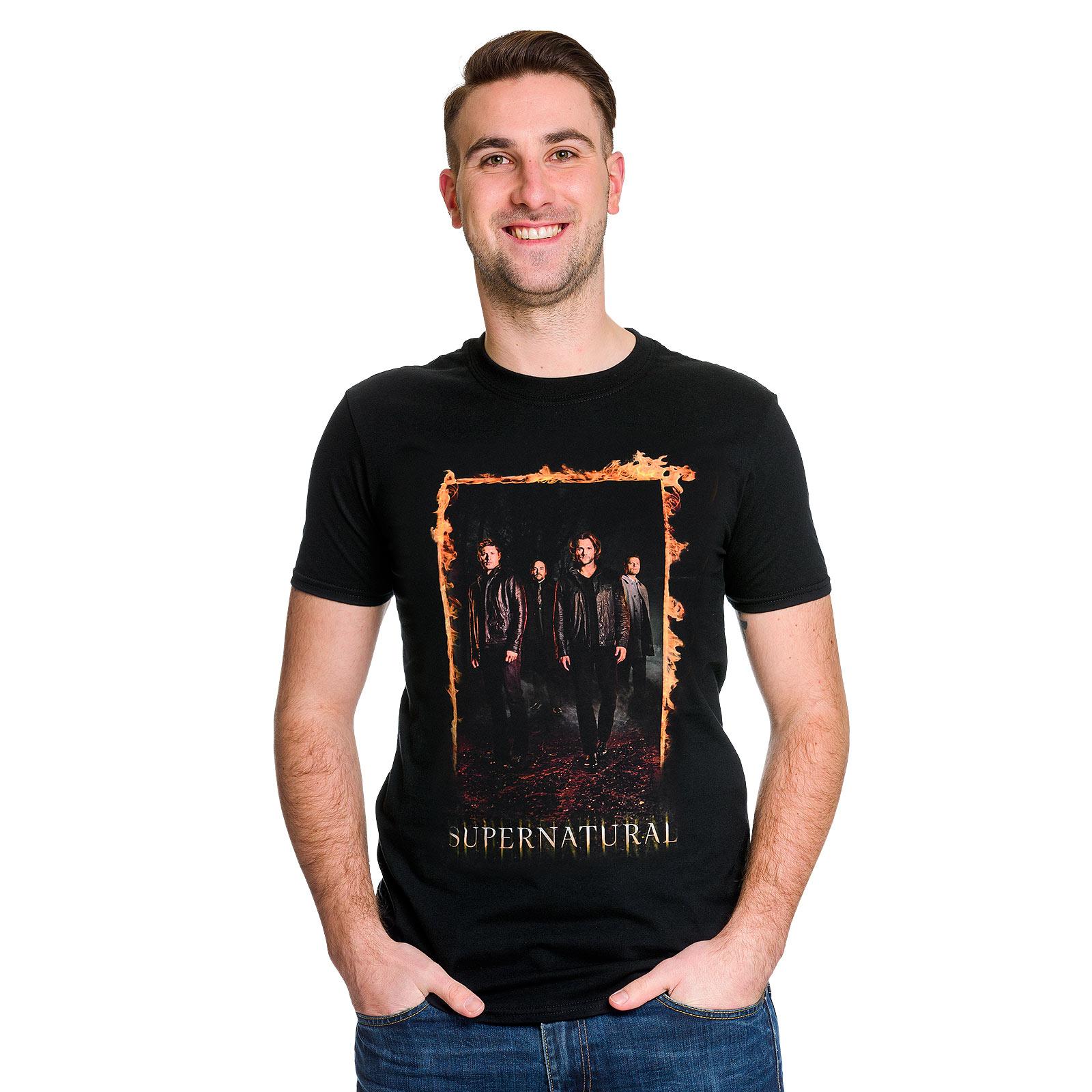 Supernatural - Burning Gate Poster T-Shirt schwarz