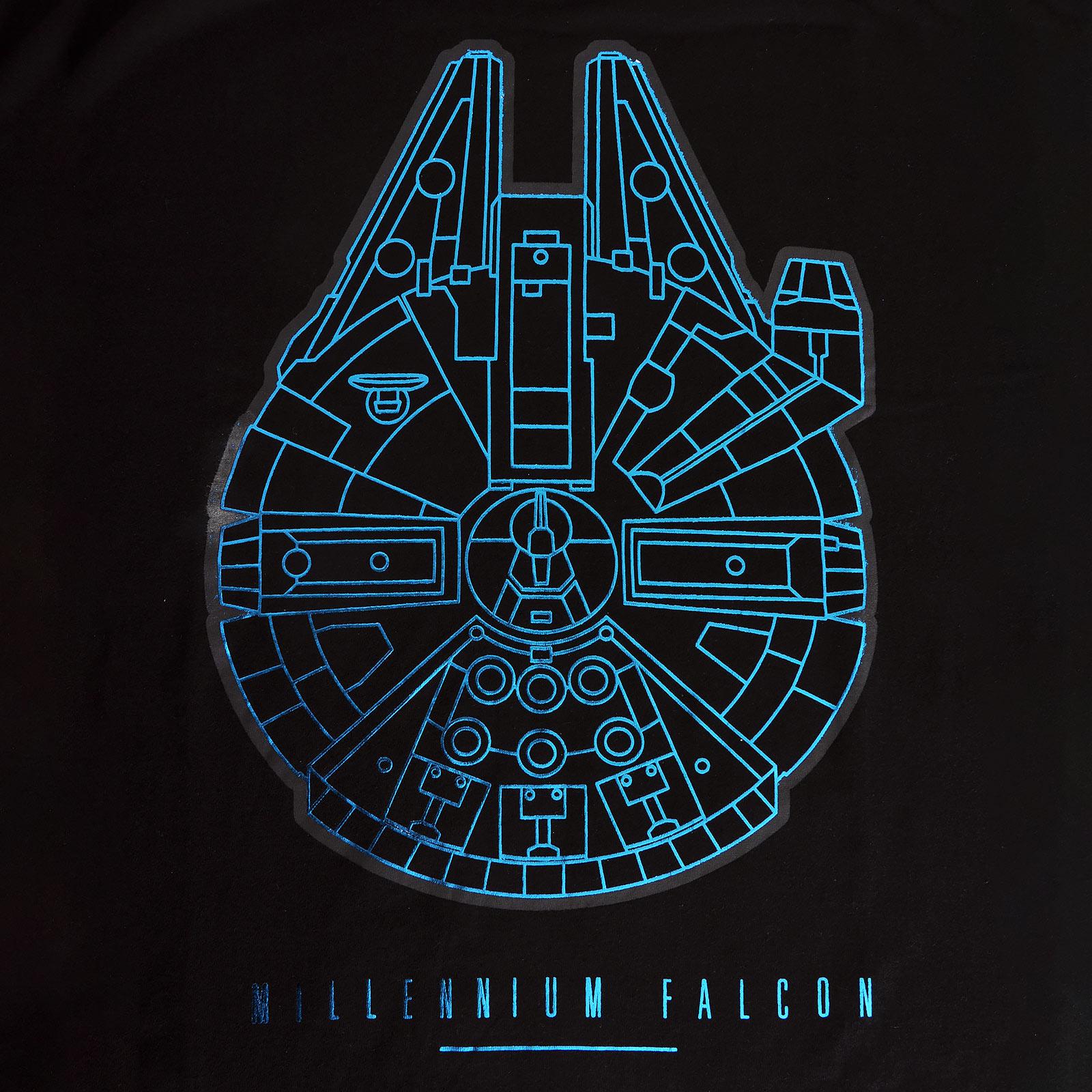 Star Wars - Millennium Falcon T-Shirt schwarz