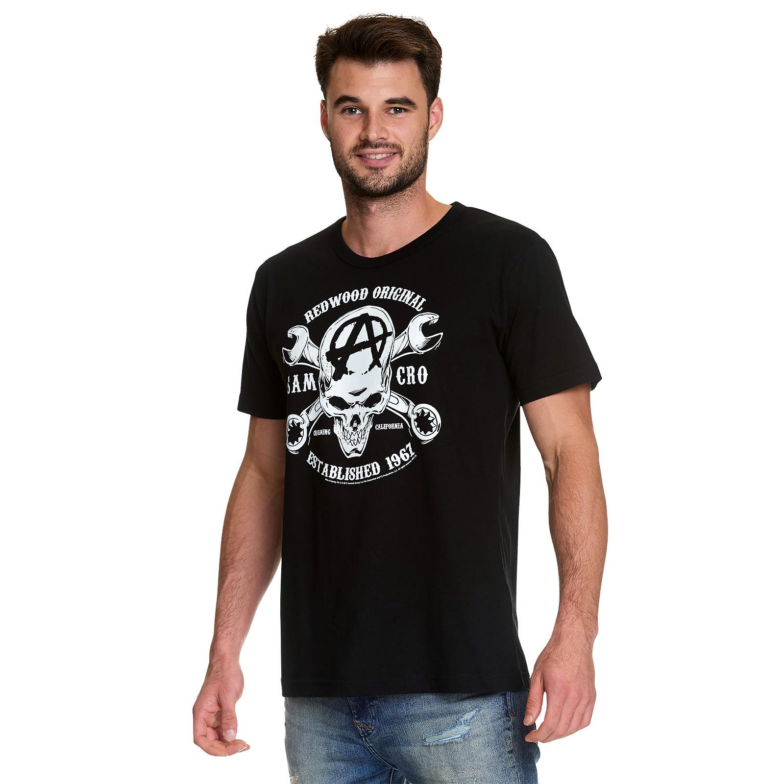 Sons of Anarchy - Samcro Skull Logo T-Shirt schwarz