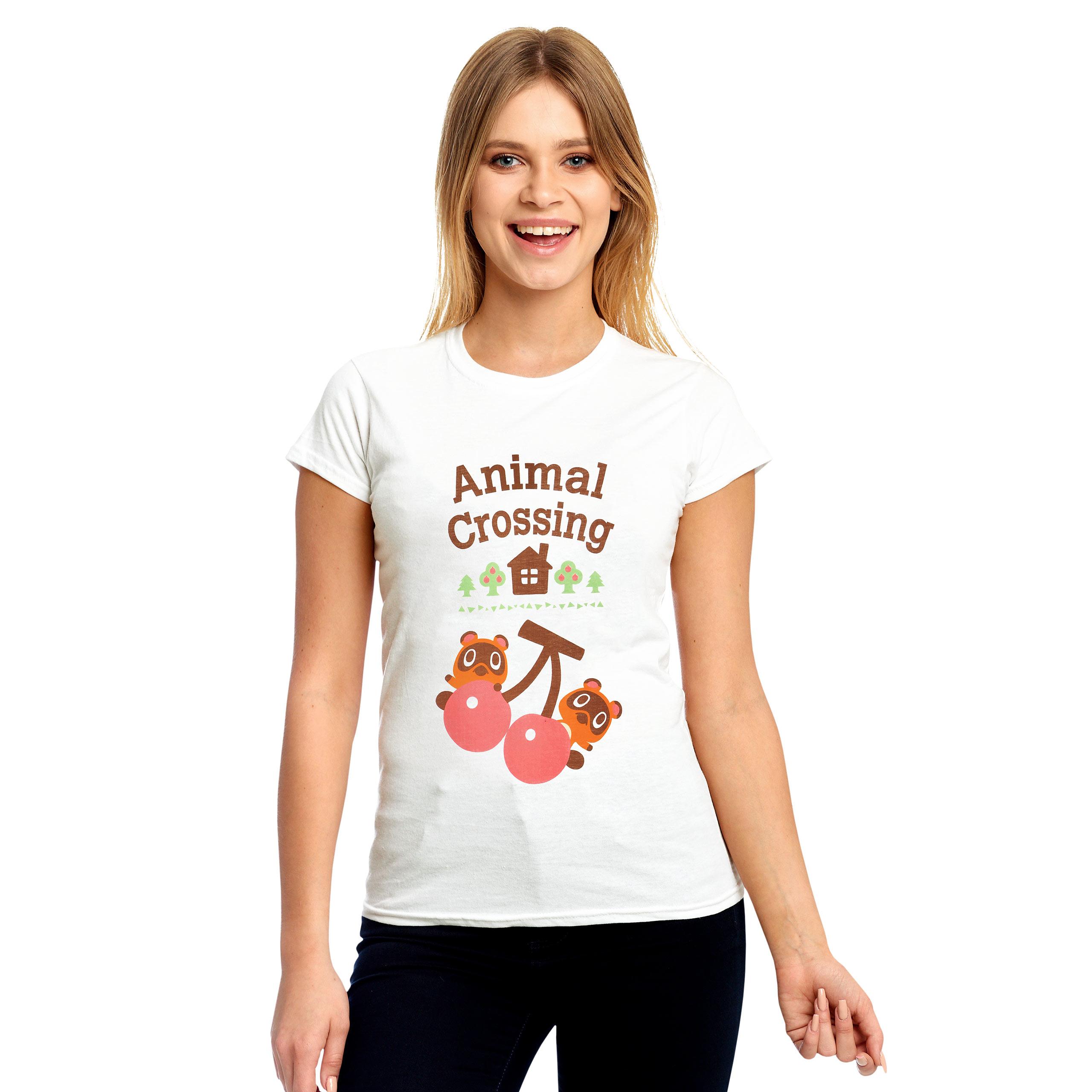 Animal Crossing - Nepp und Schlepp T-Shirt Damen weiß
