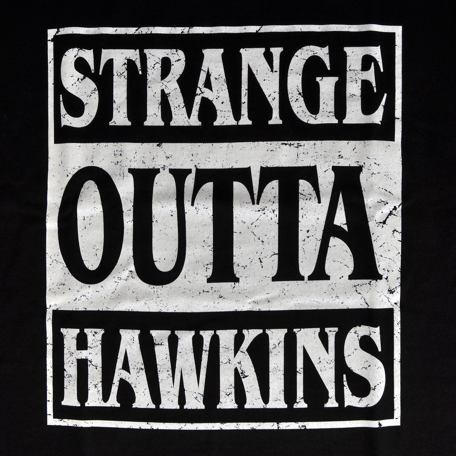 Strange Outta Hawkins T-Shirt schwarz