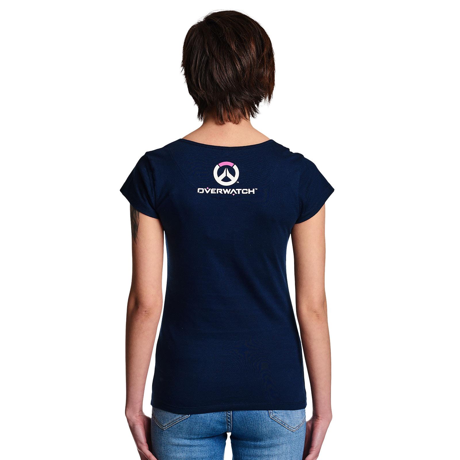 Overwatch - One Shot One Kill T-Shirt Damen blau