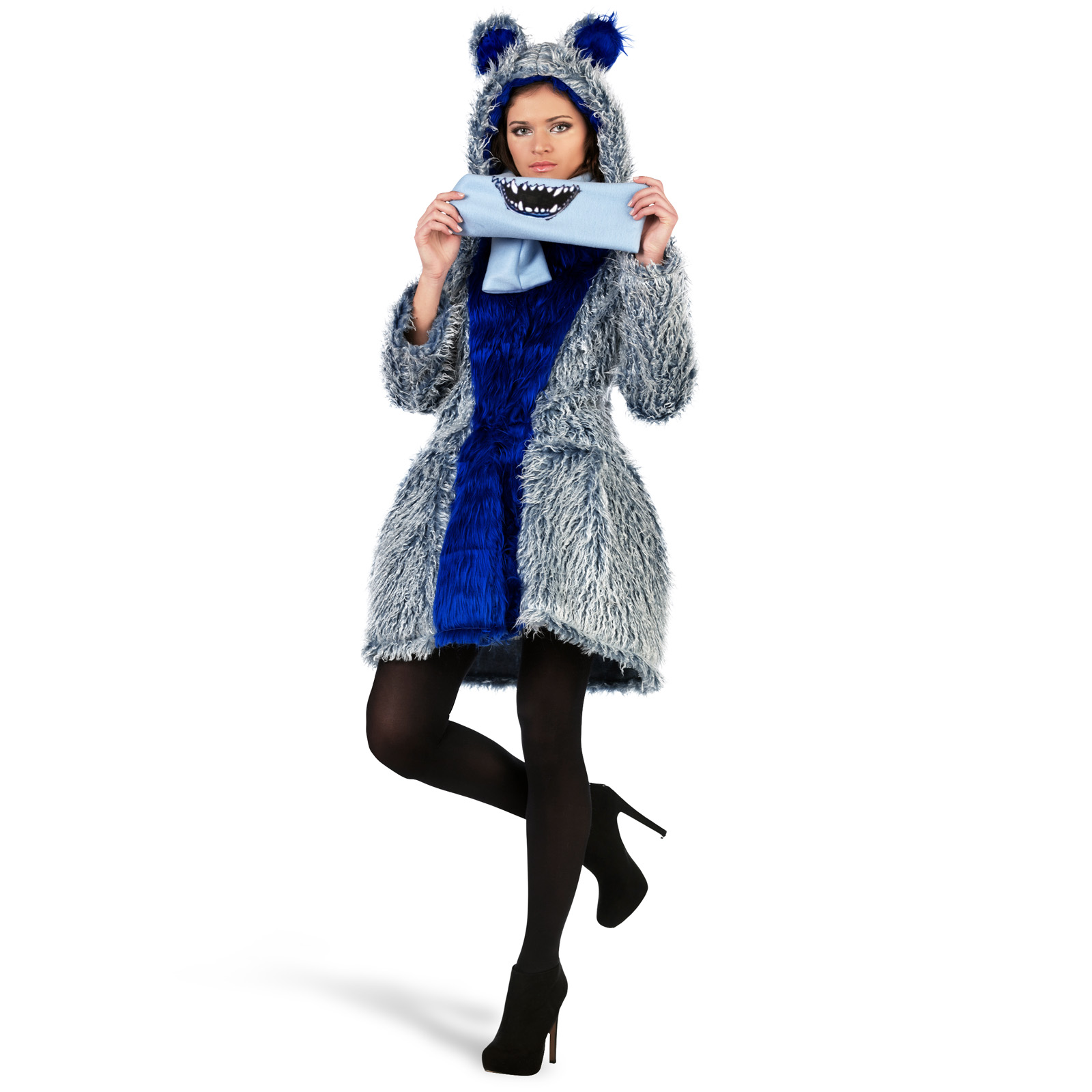 Monsterchen Kostüm Damen aus Mantel und Schal