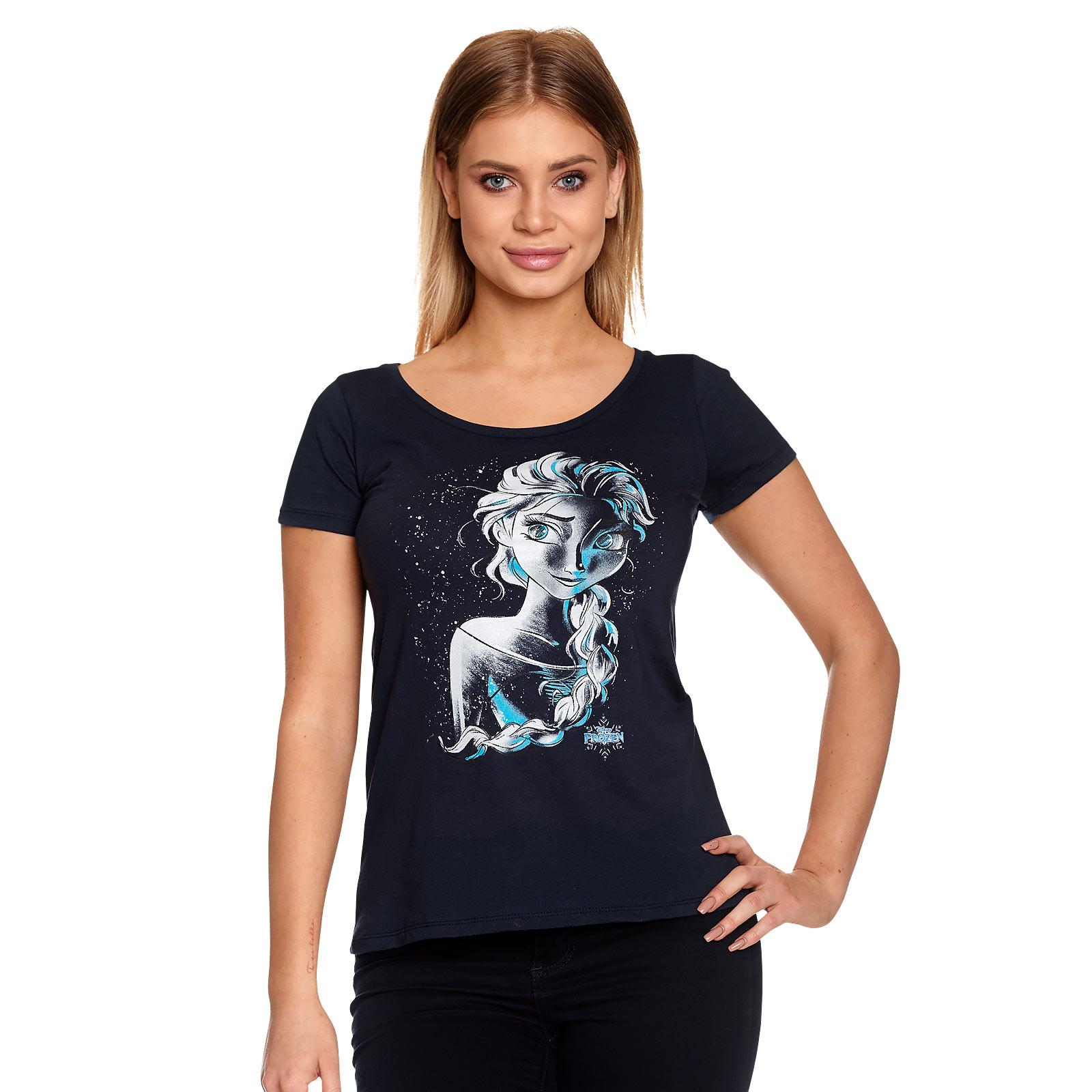 Frozen - Elsa Sketch T-Shirt Damen blau