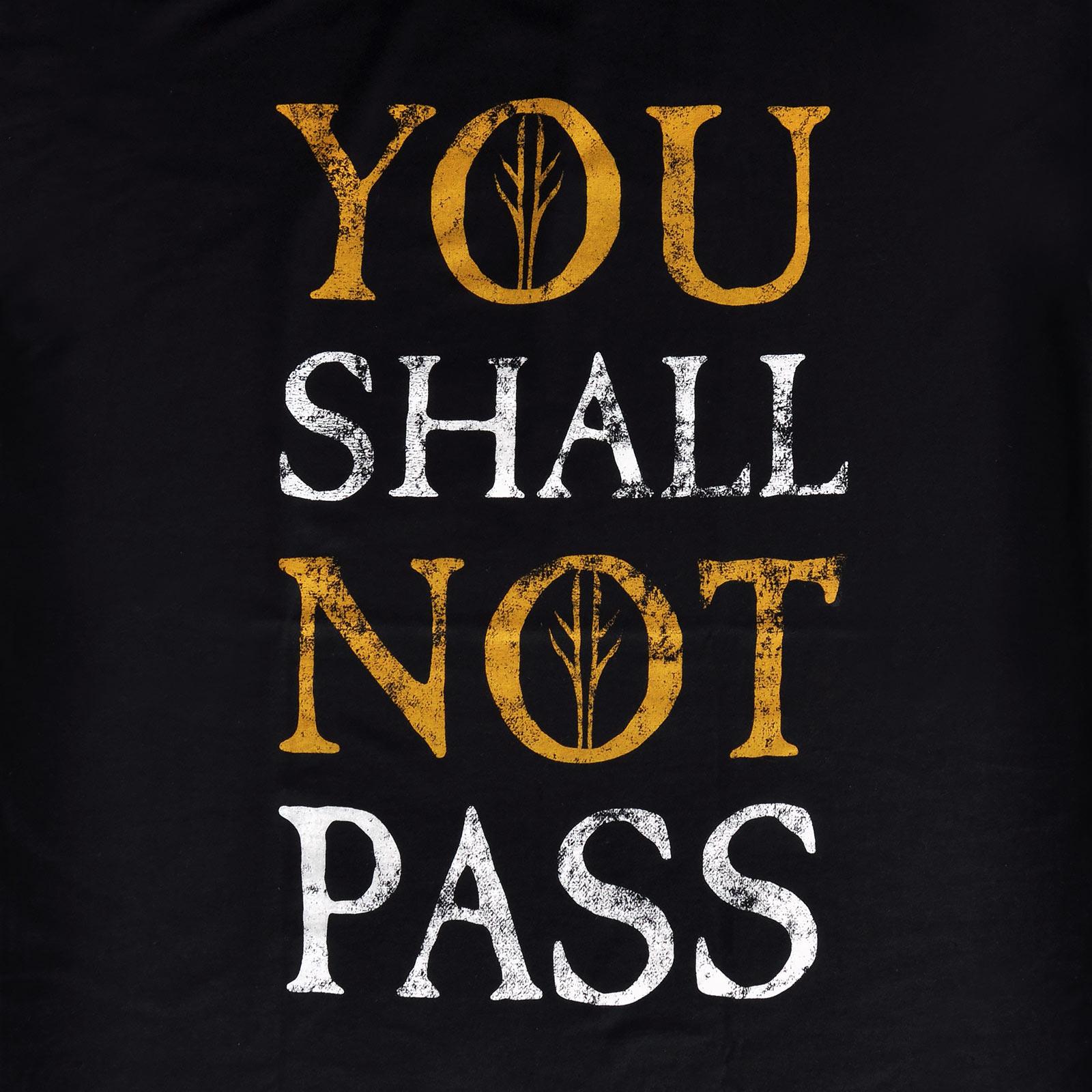 Herr der Ringe - You Shall Not Pass T-Shirt schwarz