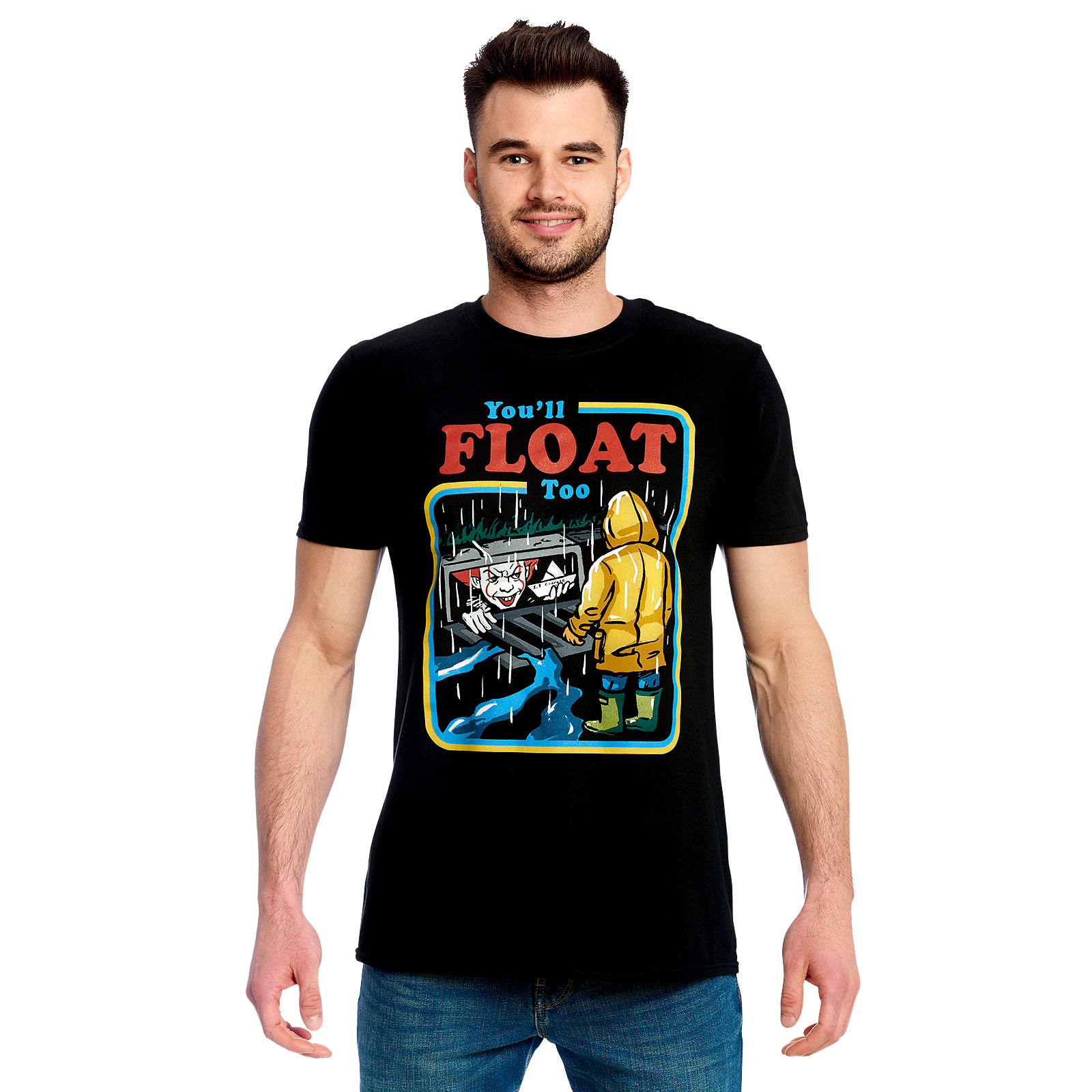 Stephen Kings ES - You'll Float Too Comic T-Shirt schwarz