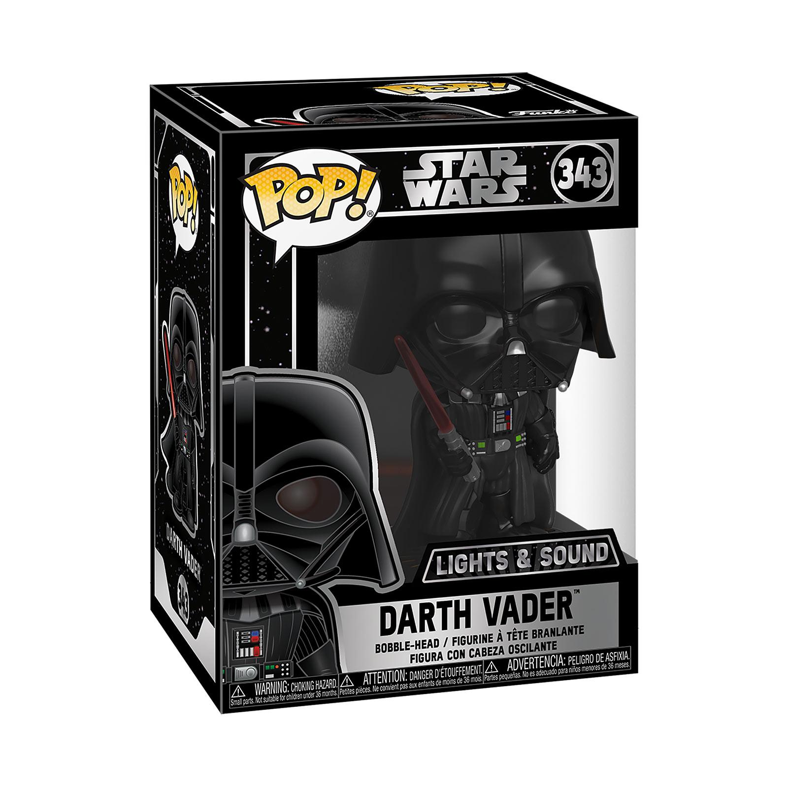 Star Wars - Darth Vader Funko Pop Wackelkopf-Figur mit Licht und Sound