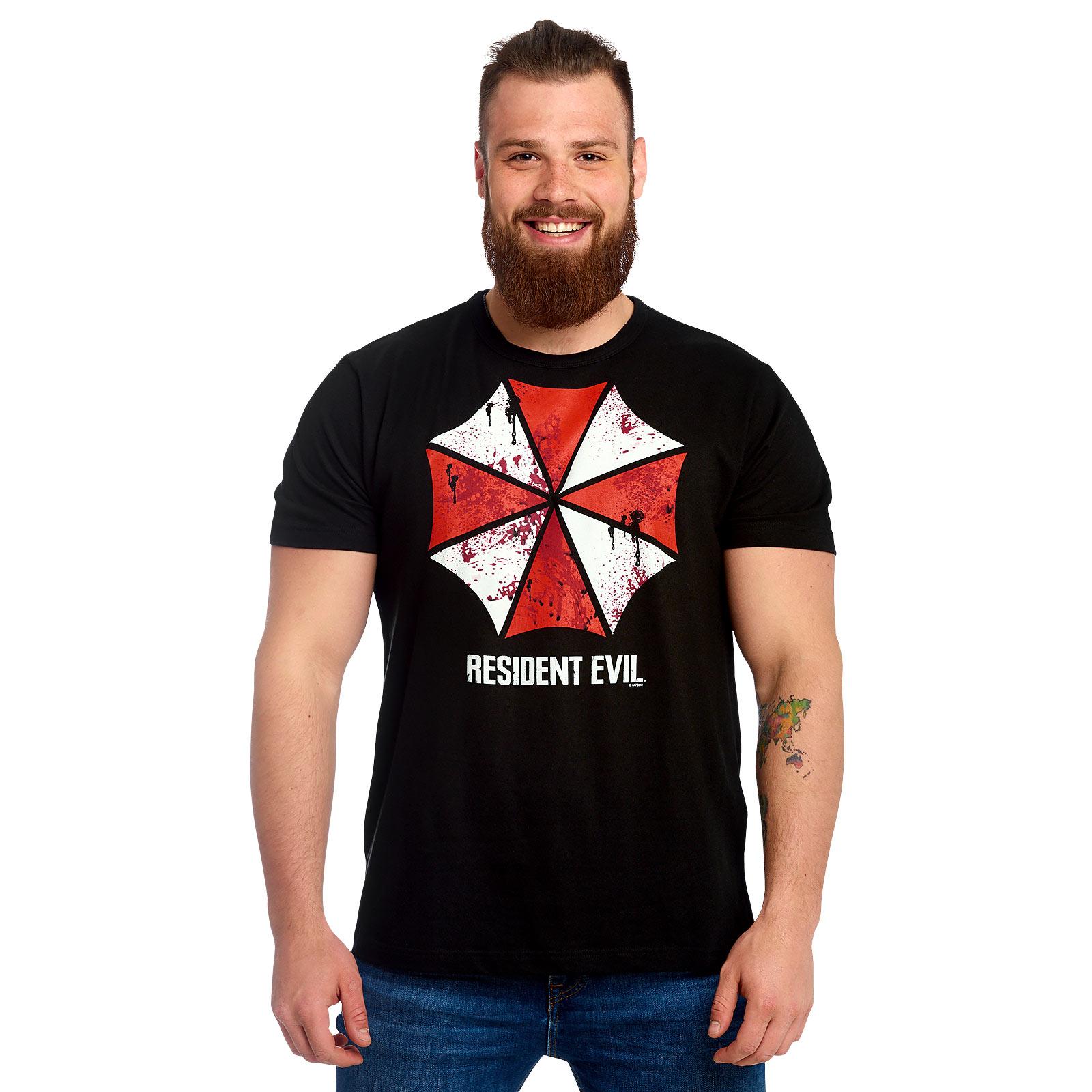 Resident Evil - Umbrella Corporation Bloody Logo T-Shirt schwarz