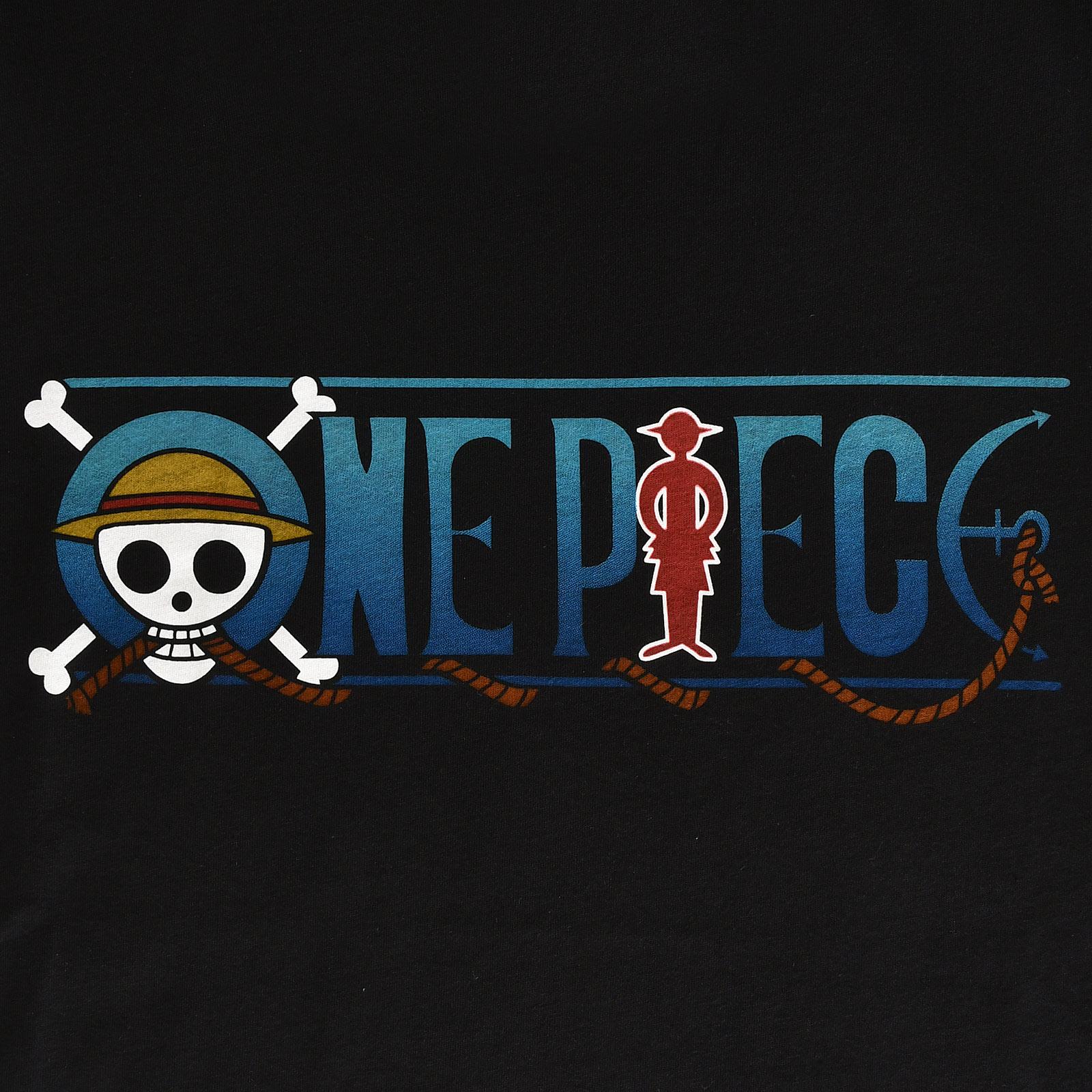 One Piece - Logo T-Shirt schwarz