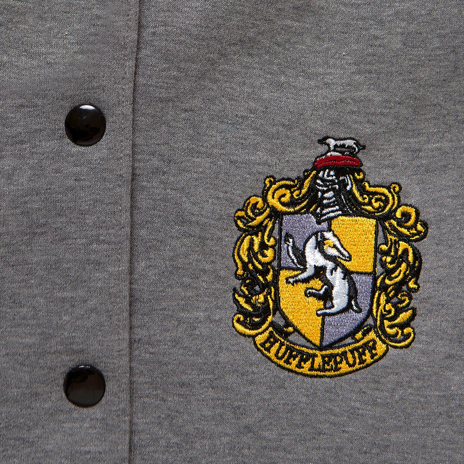 Harry Potter - Hufflepuff Wappen College Jacke Damen grau