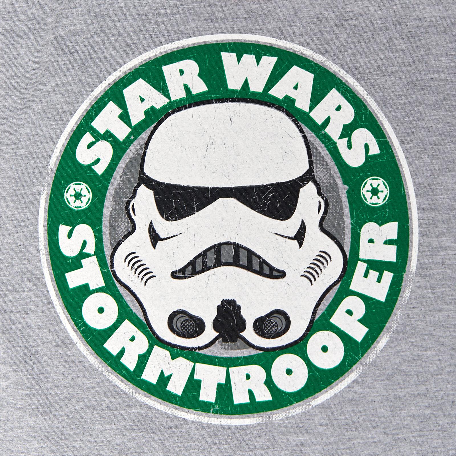 Star Wars - Stormtrooper Emblem T-Shirt Kinder grau