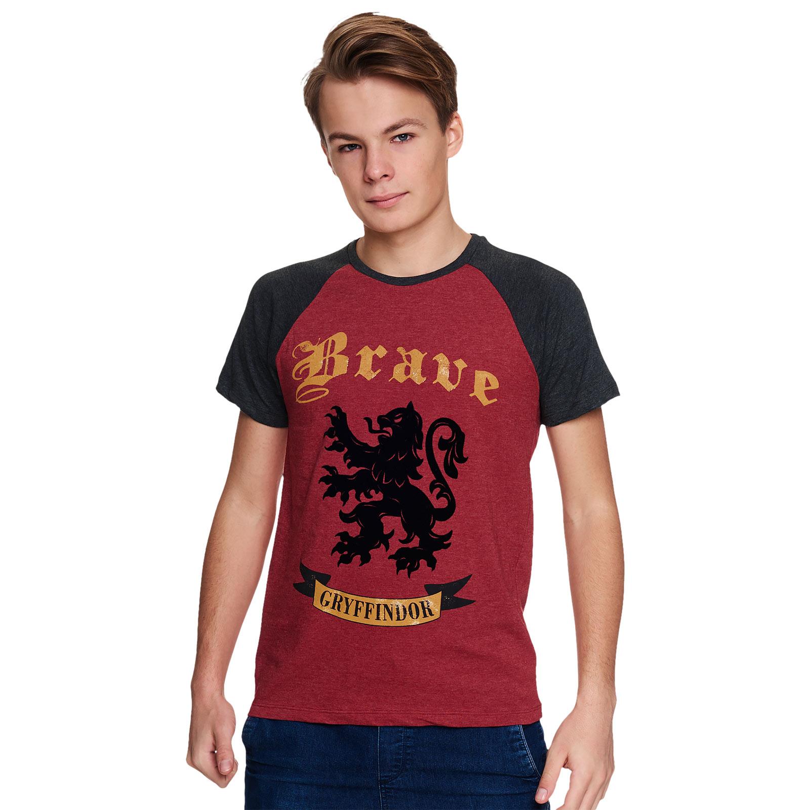 Harry Potter - Brave Gryffindor T-Shirt rot