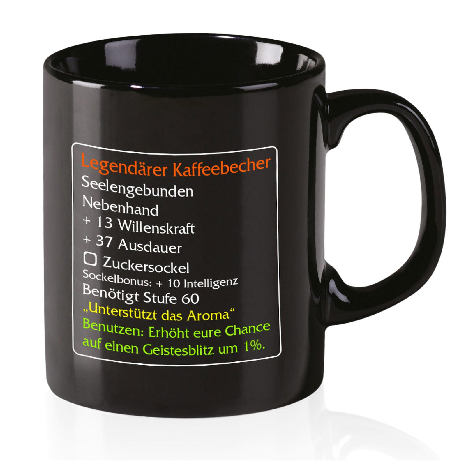 Legendärer Kaffeebecher Level 60 - MMO Item Classic Fan Tasse