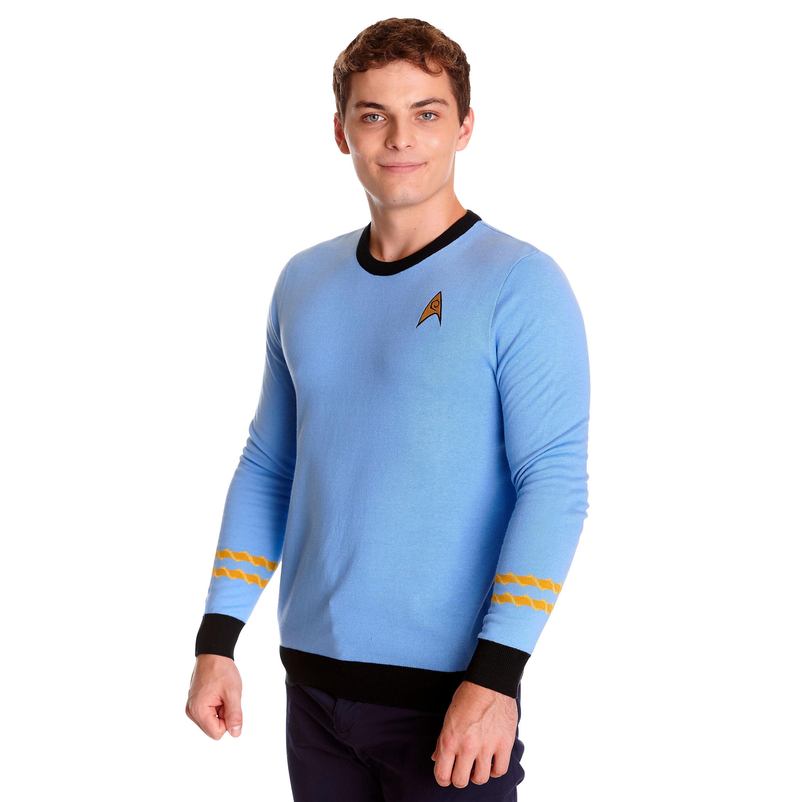 Star Trek - Mister Spock Uniform Strickpullover blau
