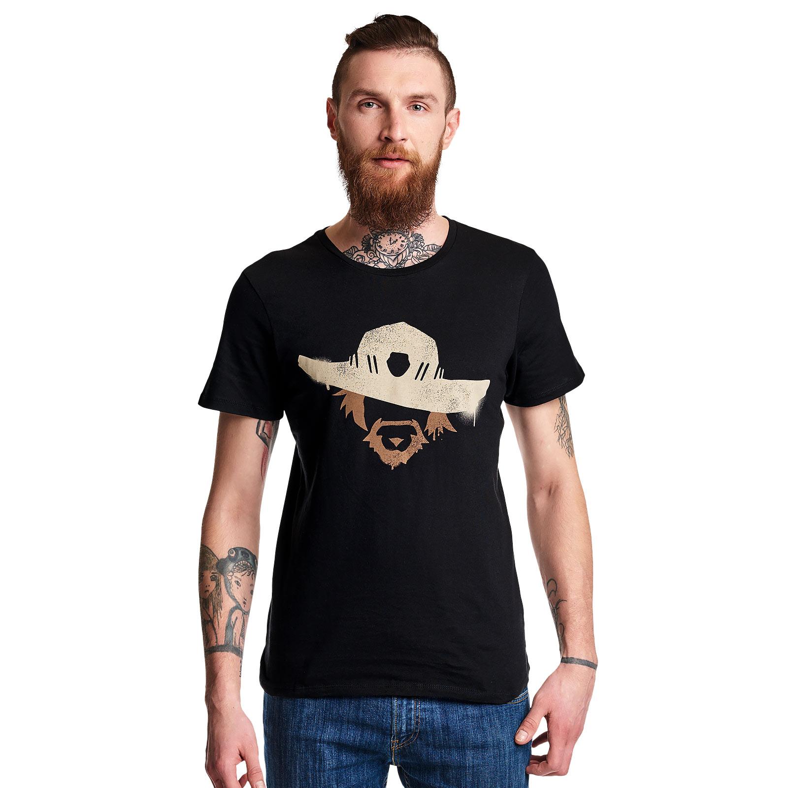 Overwatch - McCree Spray Logo T-Shirt schwarz