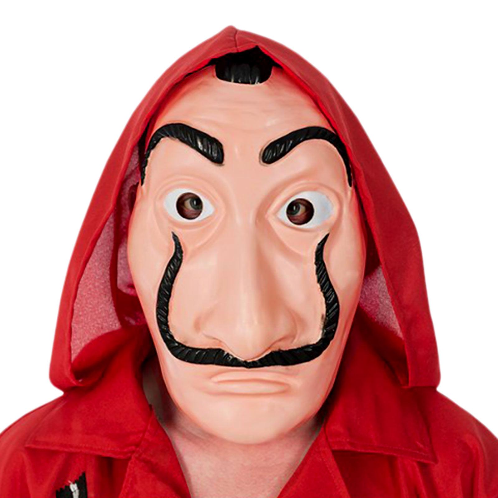 Salvador Kostüm Halb-Maske für Haus des Geldes Fans