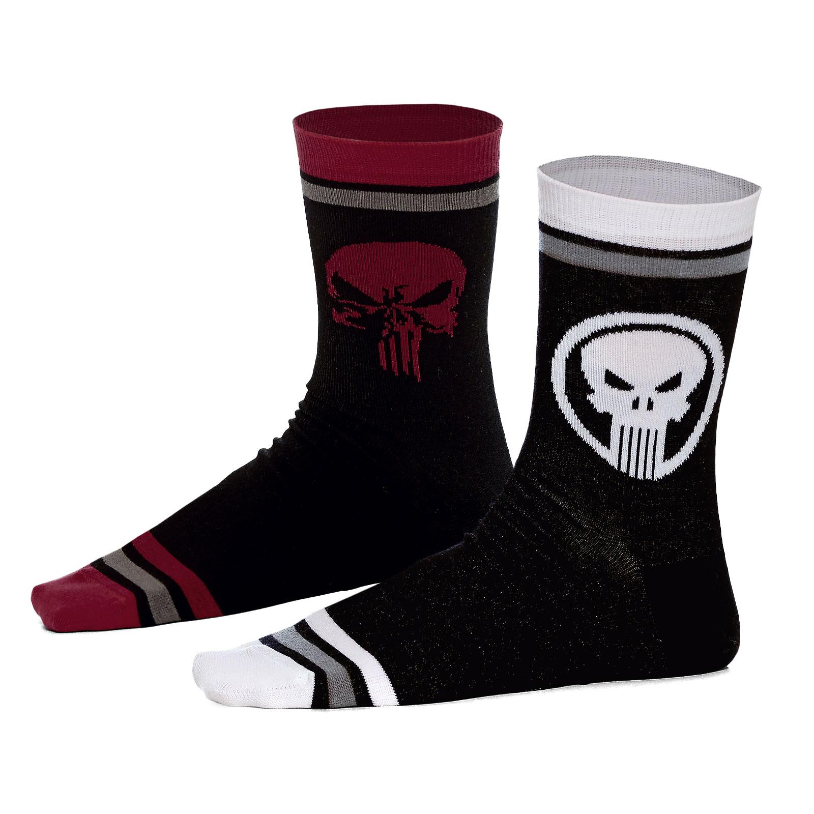 Punisher - Skull Logo Socken 2er Set