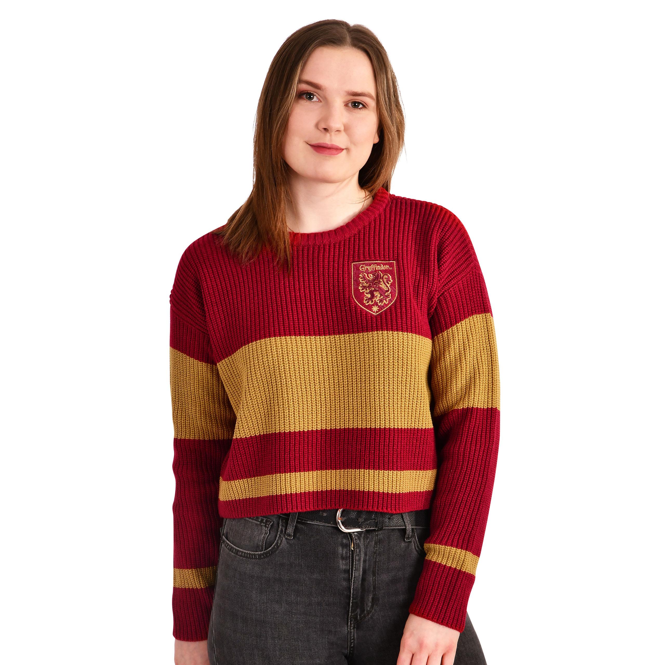 Harry Potter - Gryffindor Crop Sweater Damen