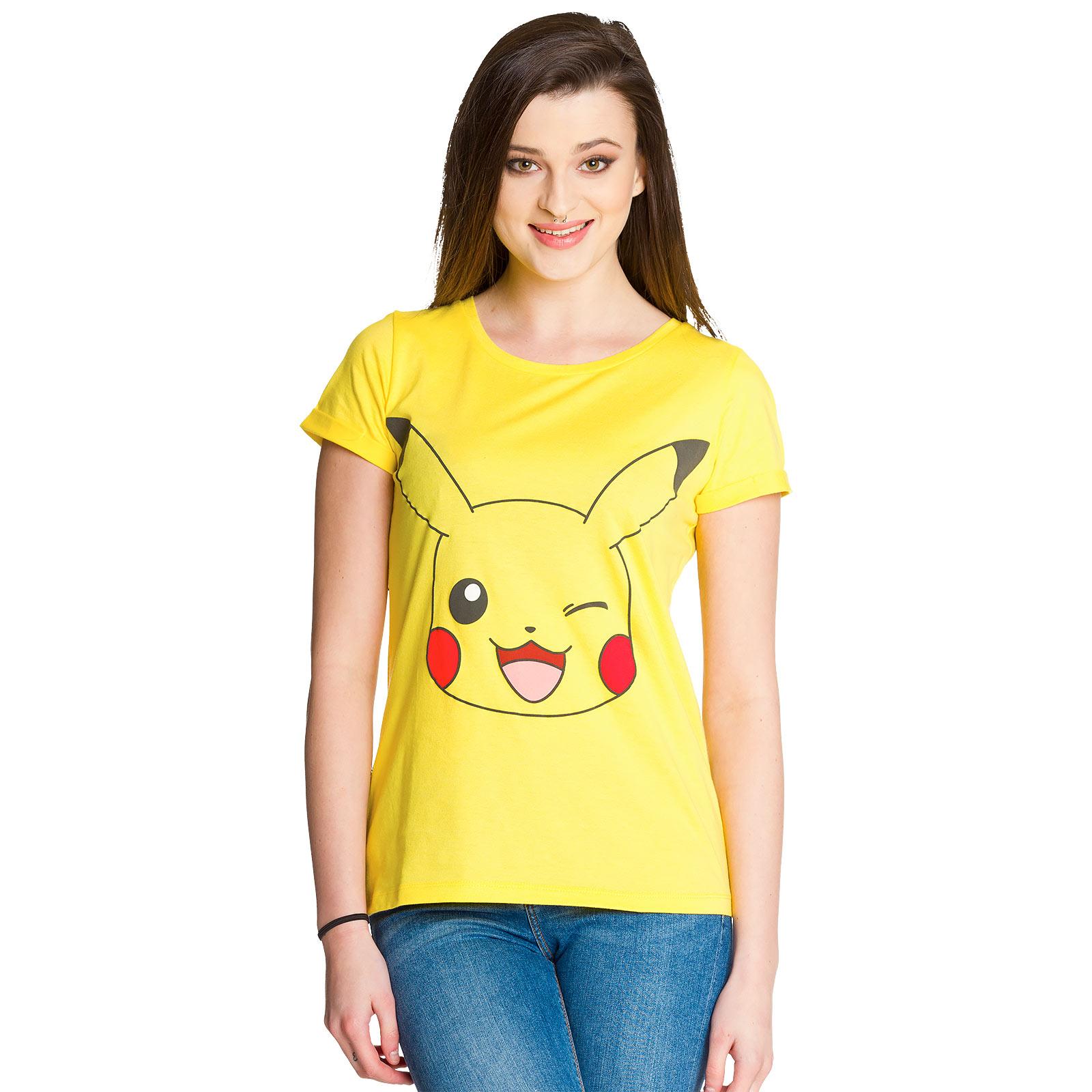 Pokemon - Pikachu Girlie Shirt gelb