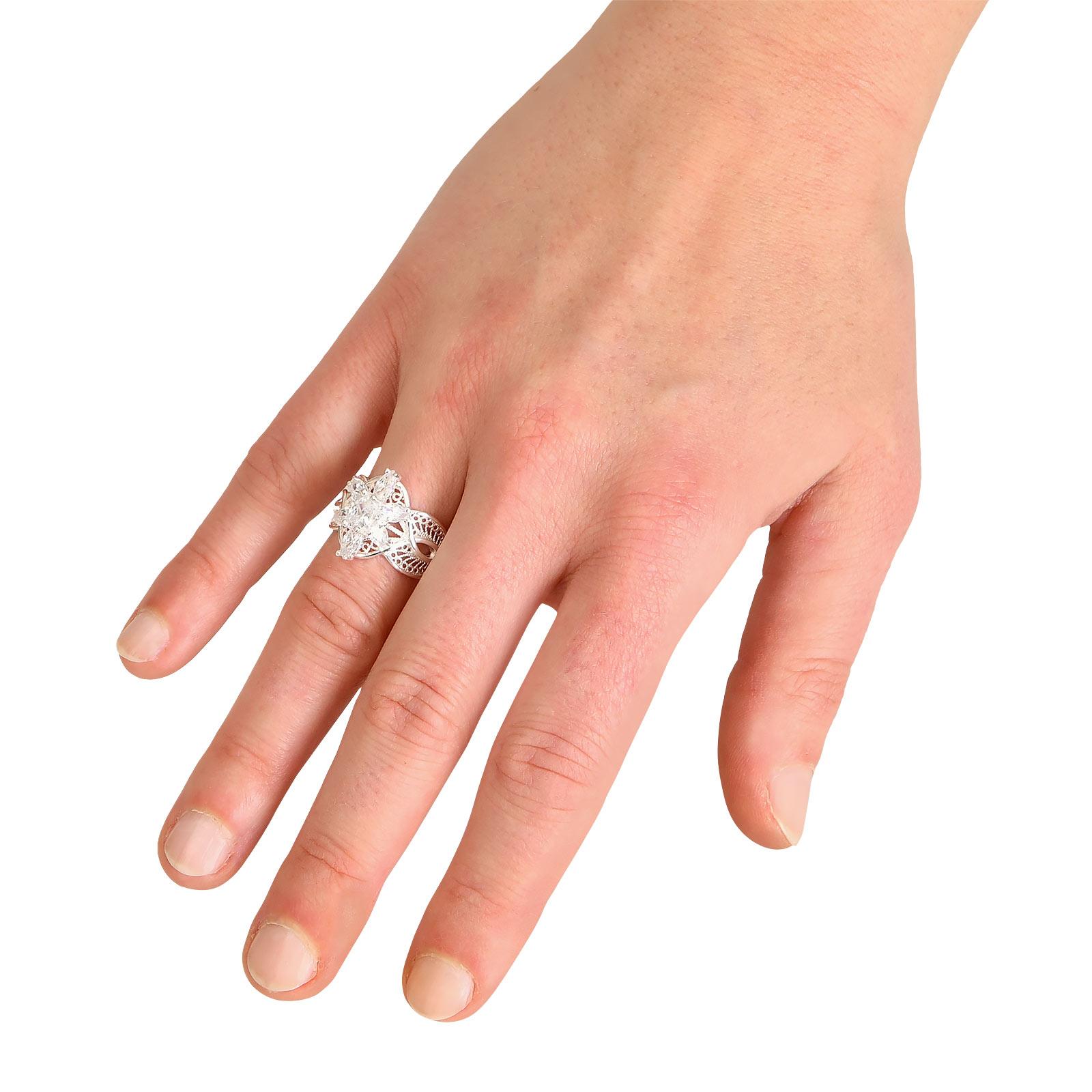 Arwens Abendstern Ring Filigran