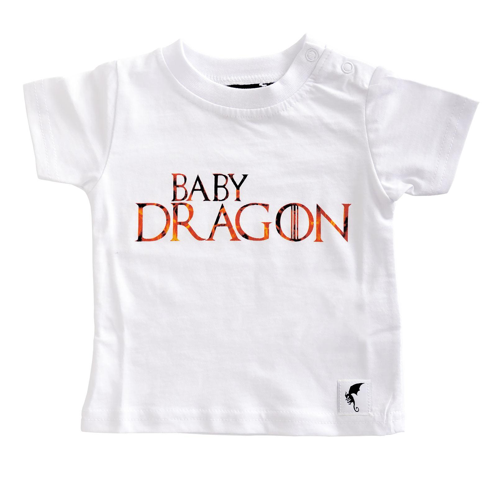 Baby Dragon - Kinder T-Shirt weiß