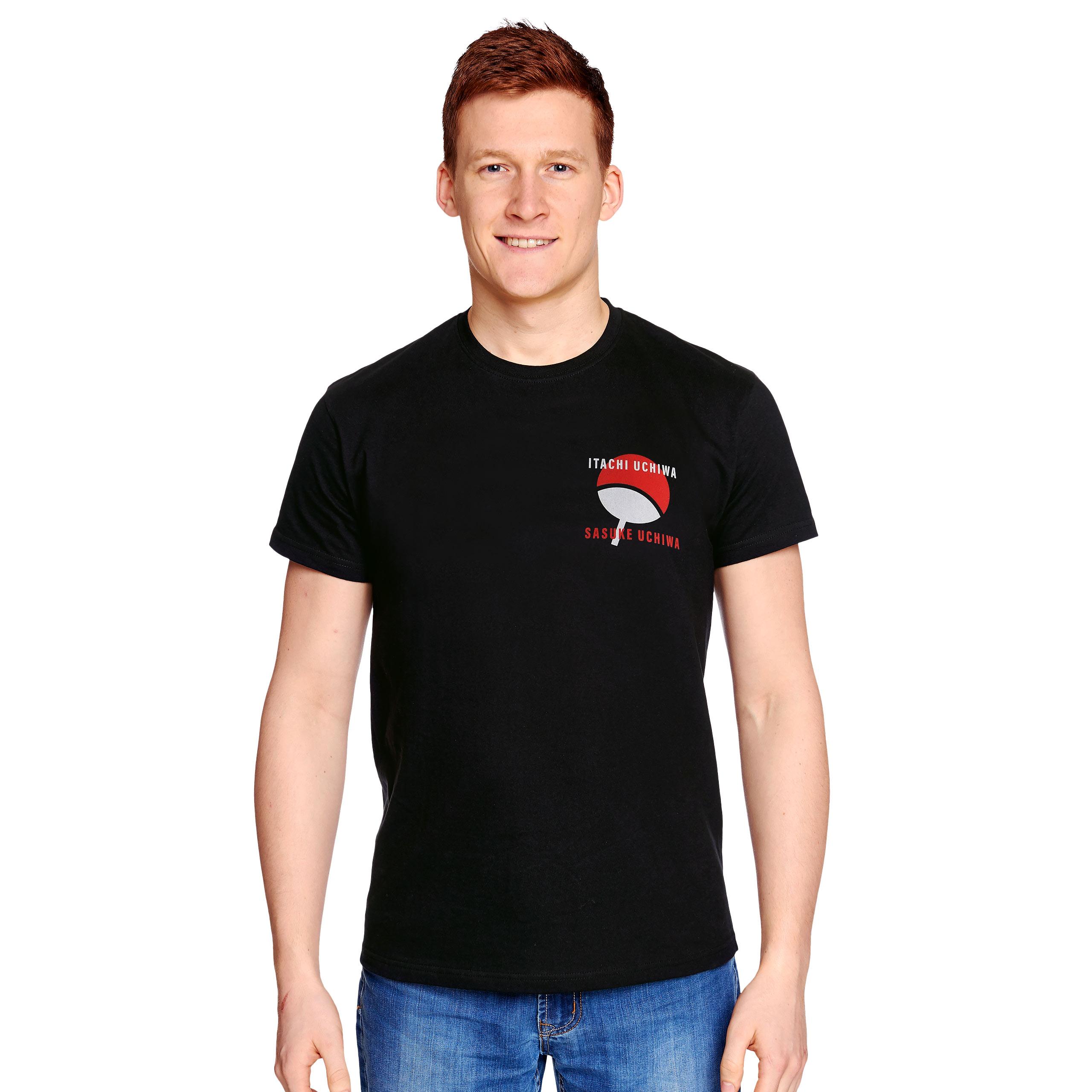 Naruto - Sasuke und Itachi T-Shirt schwarz