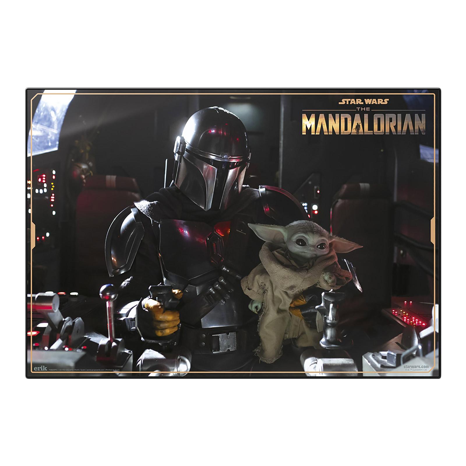 Grogu und Mandalorianer Schreibtischunterlage - Star Wars The Mandalorian