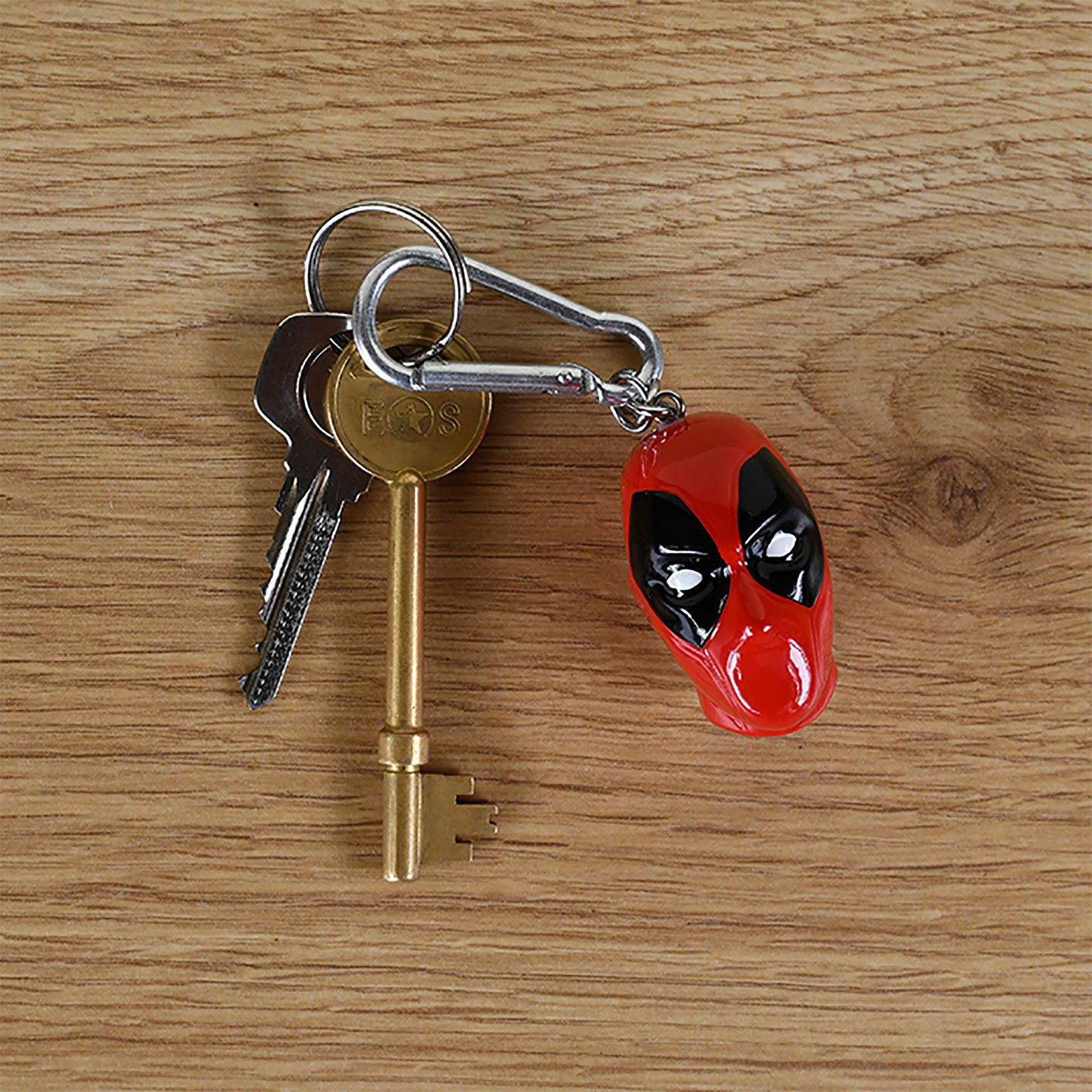 Deadpool - Face 3D Schlüsselanhänger