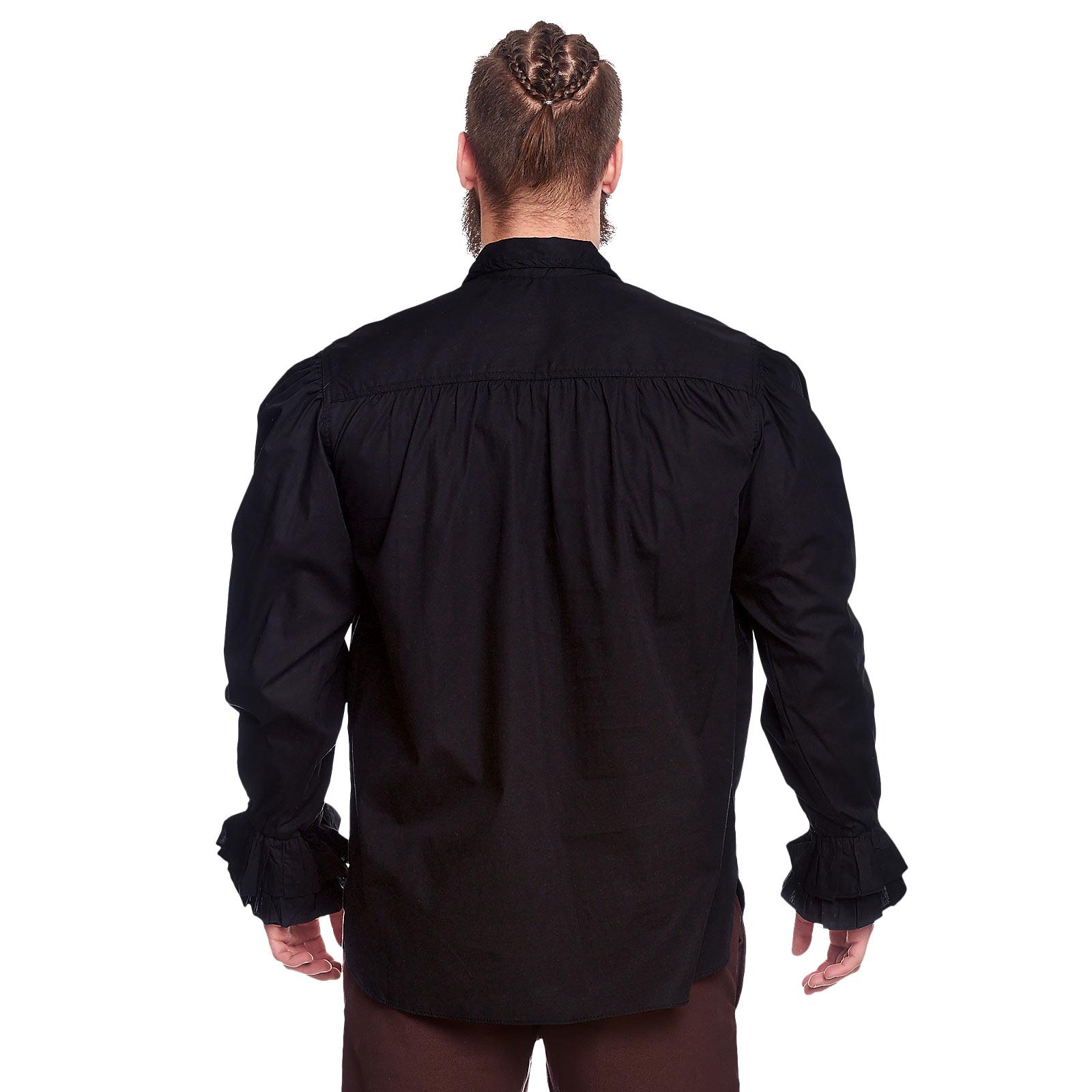 Rüschenhemd schwarz