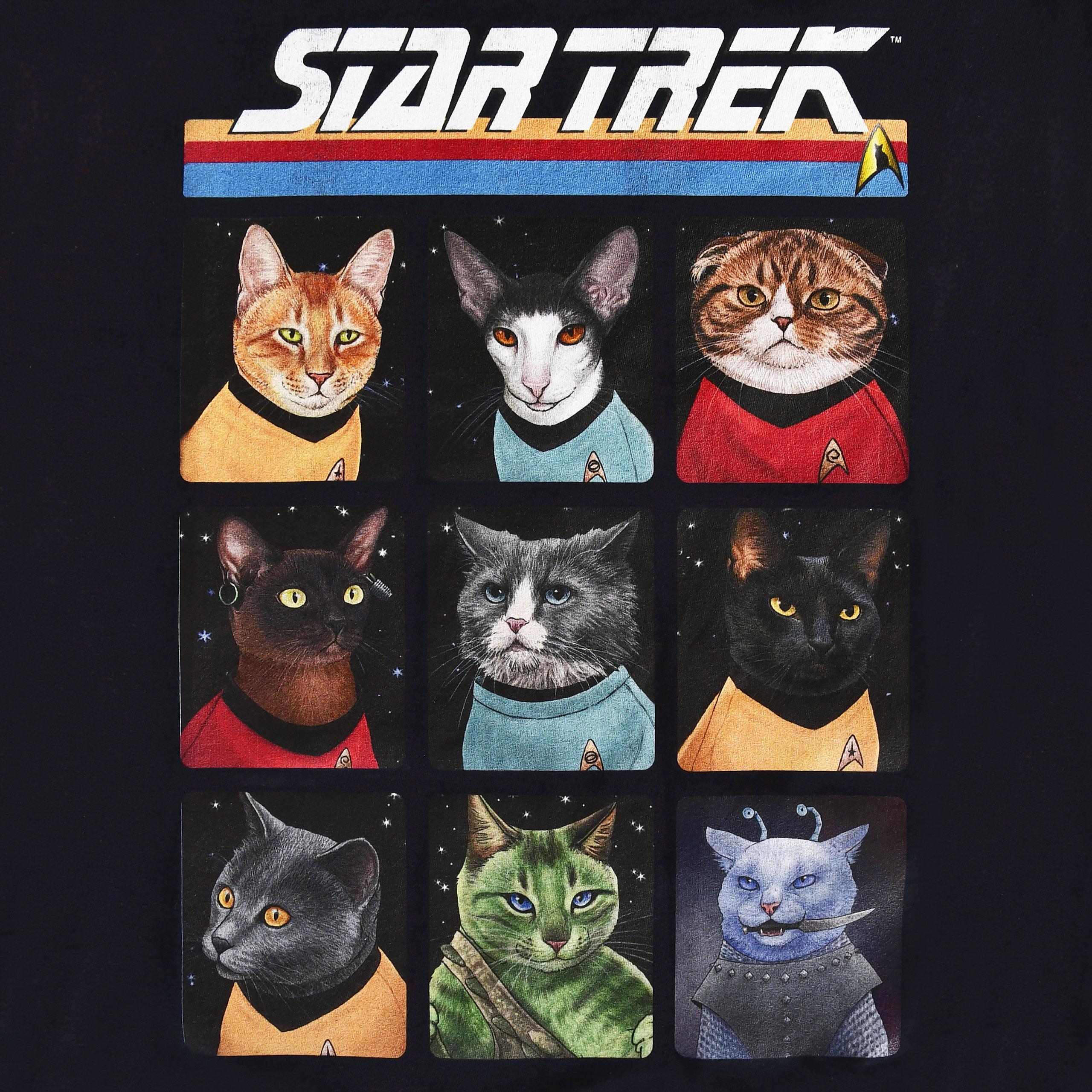 Star Trek - Cat Crew T-Shirt blau